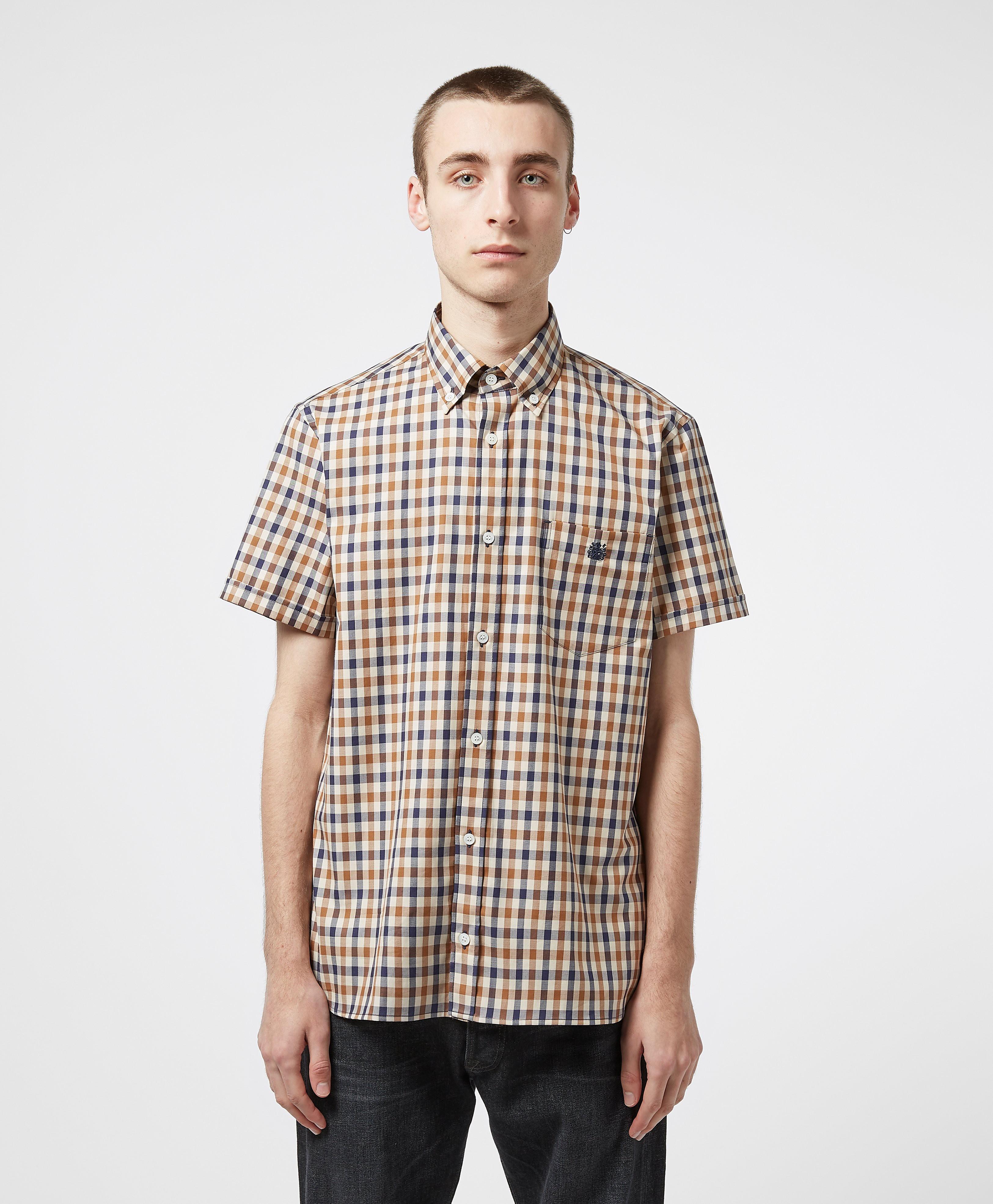 Aquascutum Club Check Short Sleeve Shirt