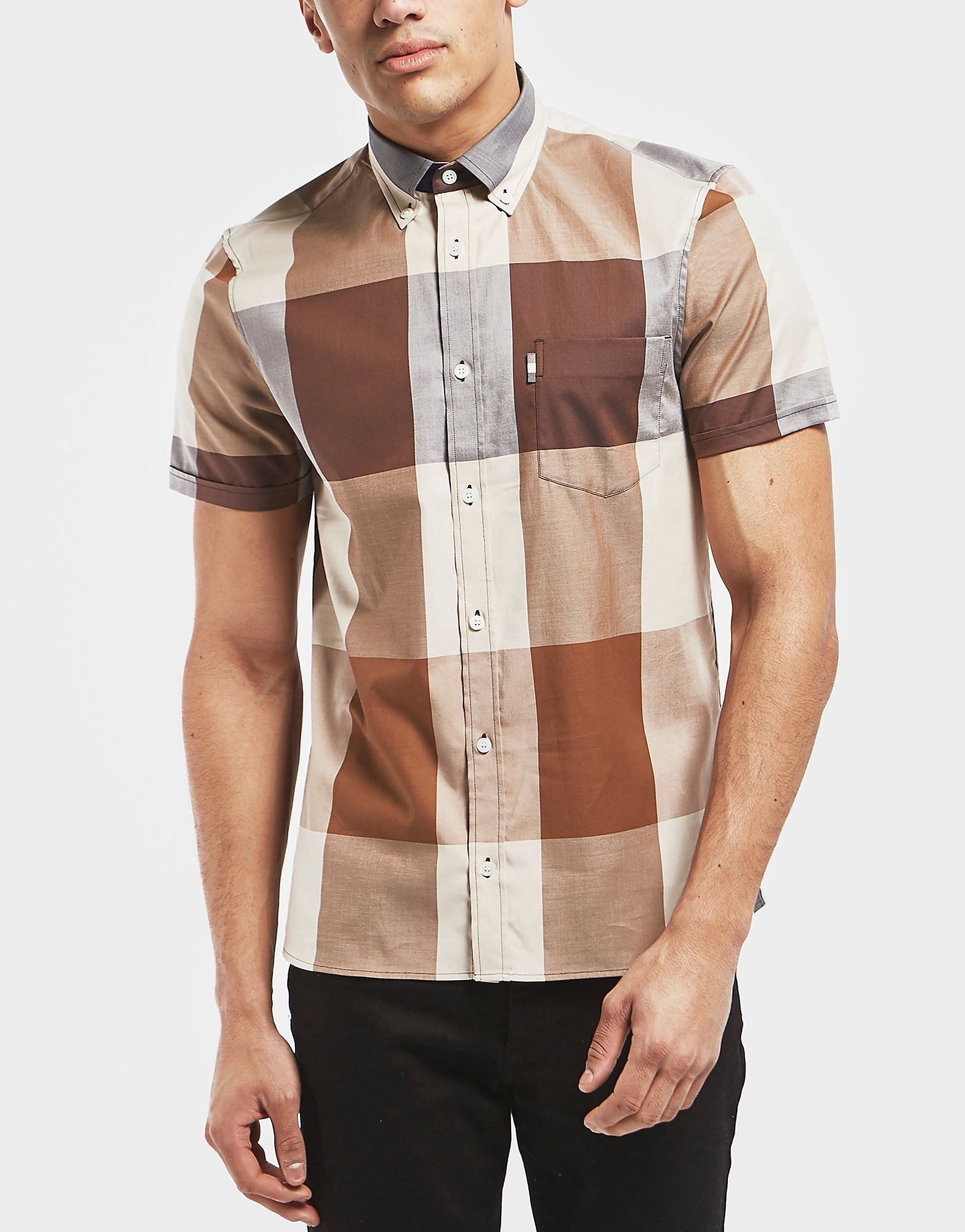 Aquascutum Henlake Club Check Short Sleeve Shirt