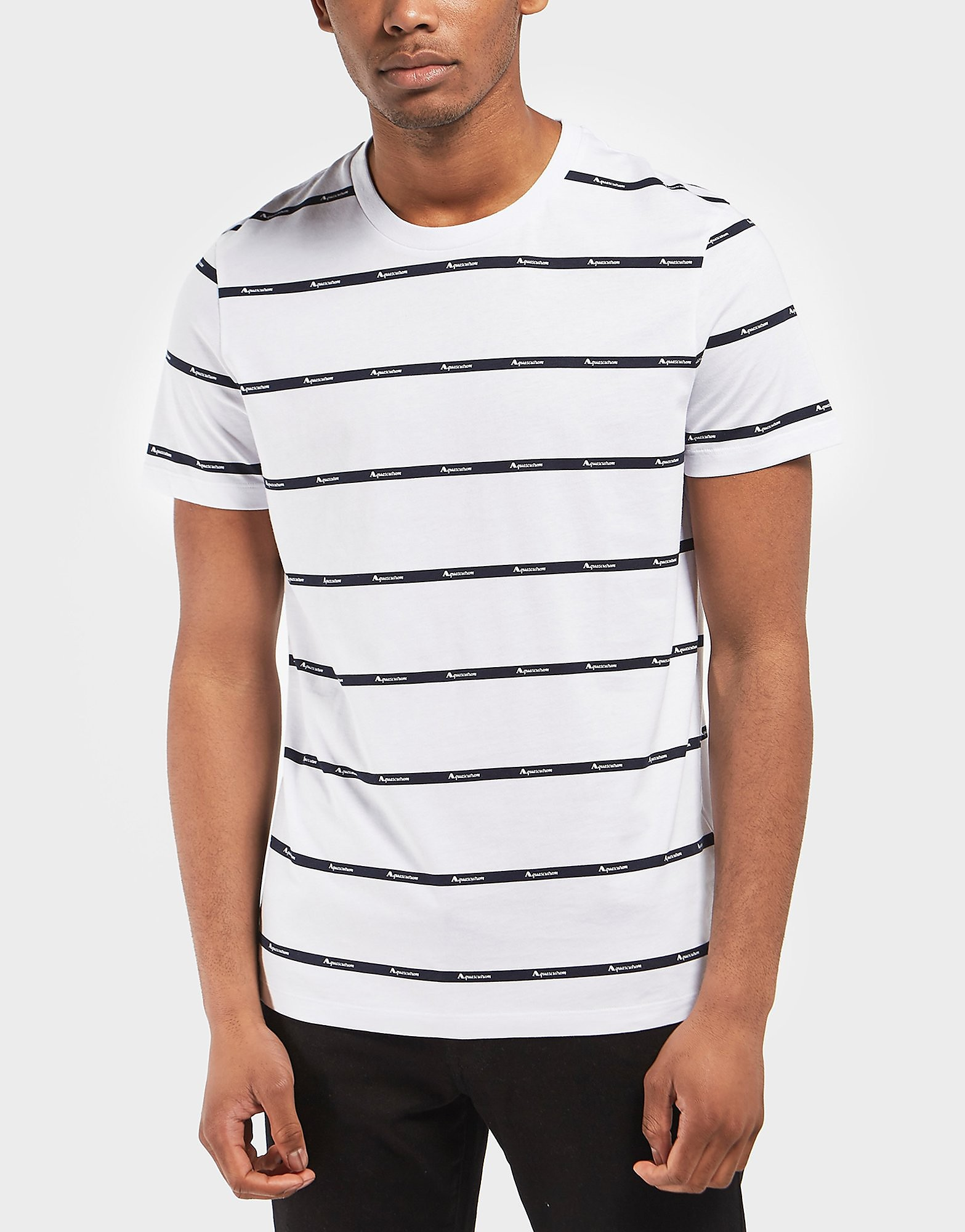 Aquascutum Branded Stripe Short Sleeve T-Shirt