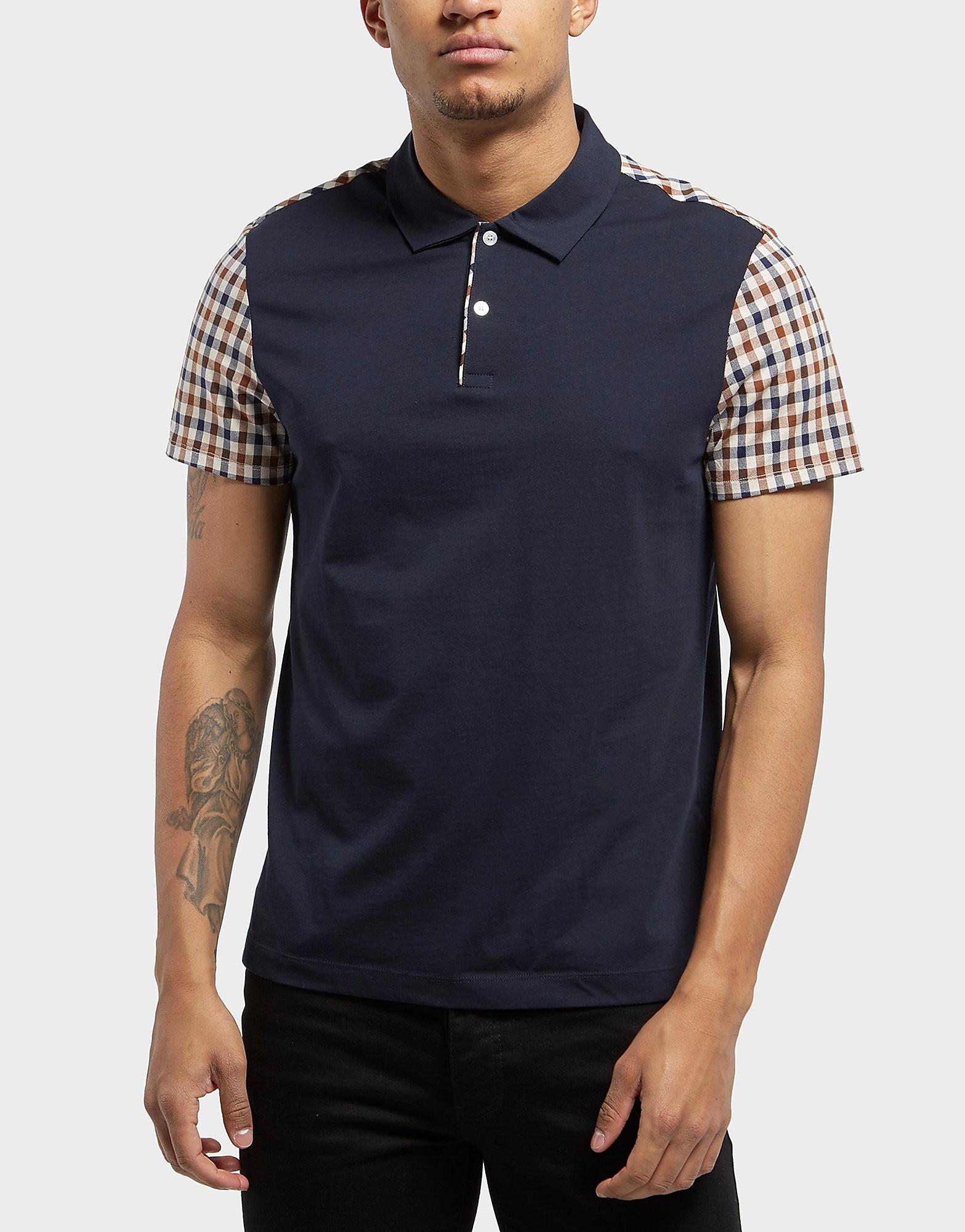Aquascutum Check Short Sleeve Polo Shirt