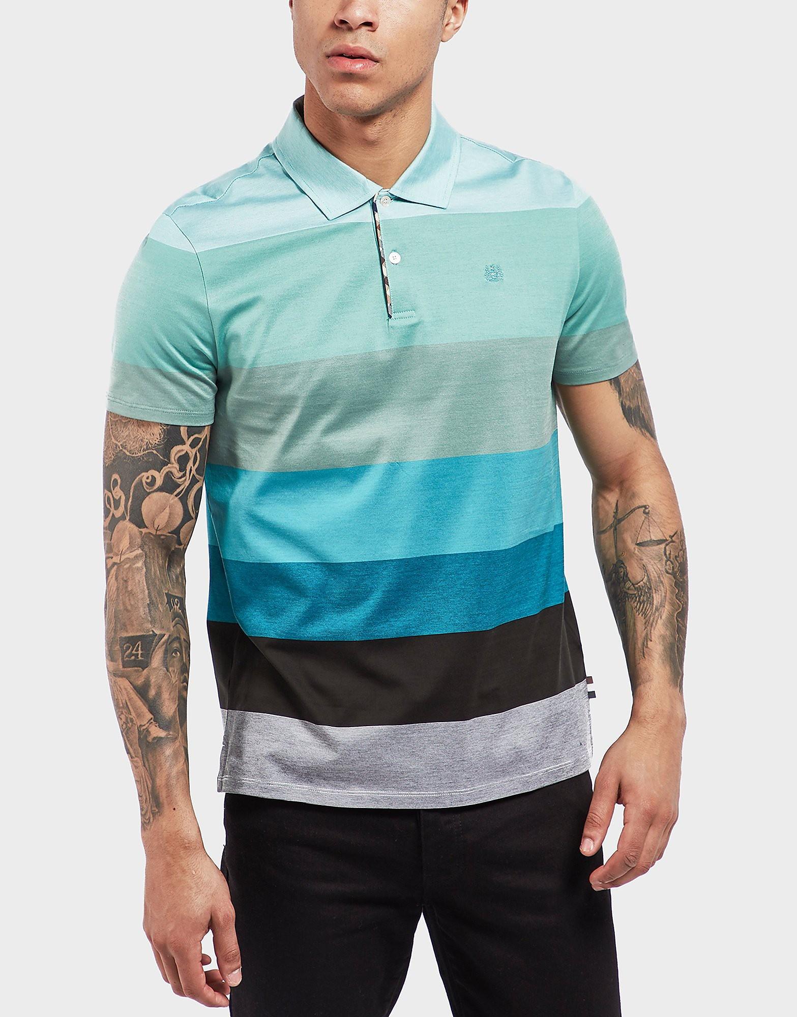 Aquascutum Stripe Short Sleeve Polo Shirt