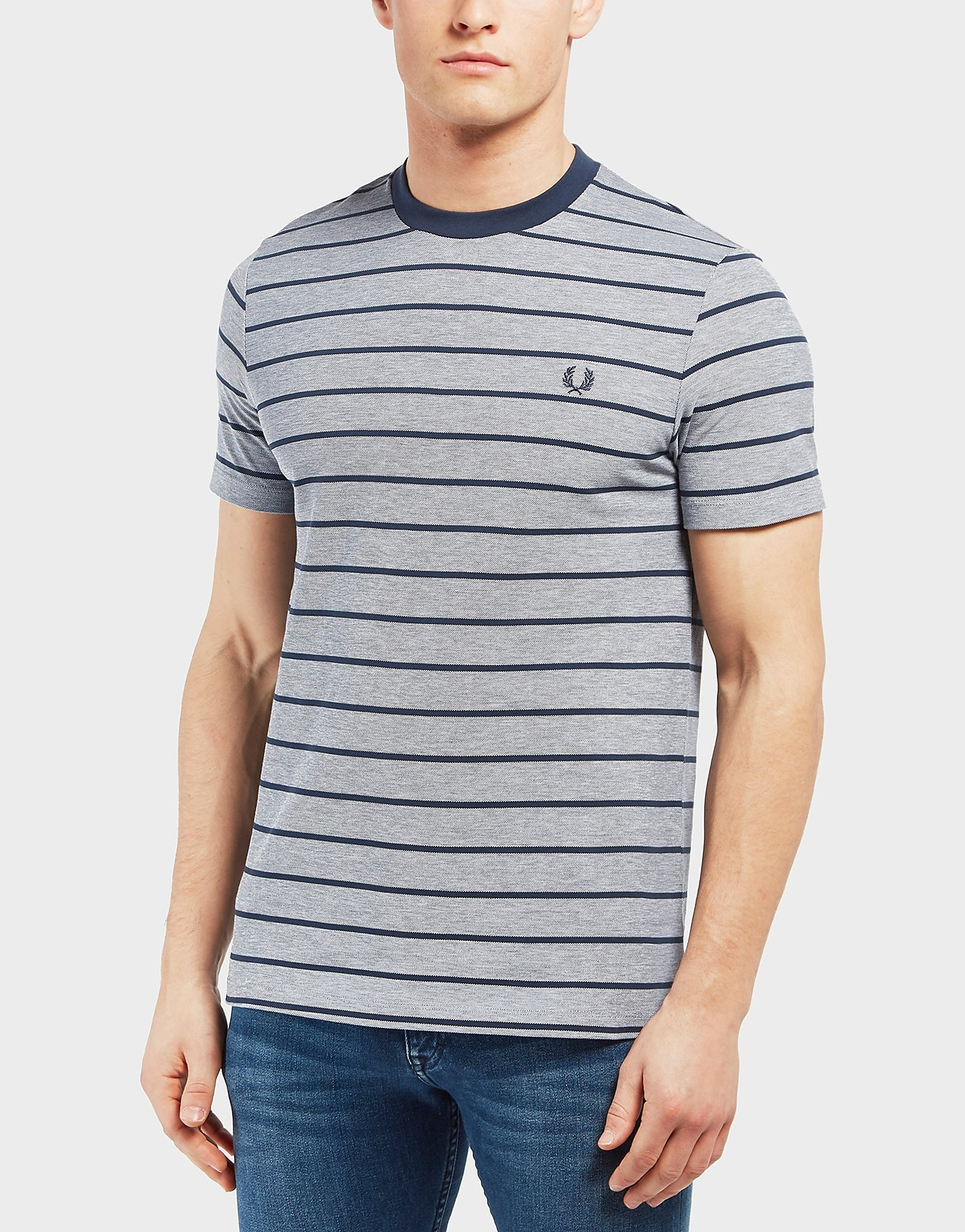 Fred Perry Oxford Stripe Short Sleeve T-Shirt