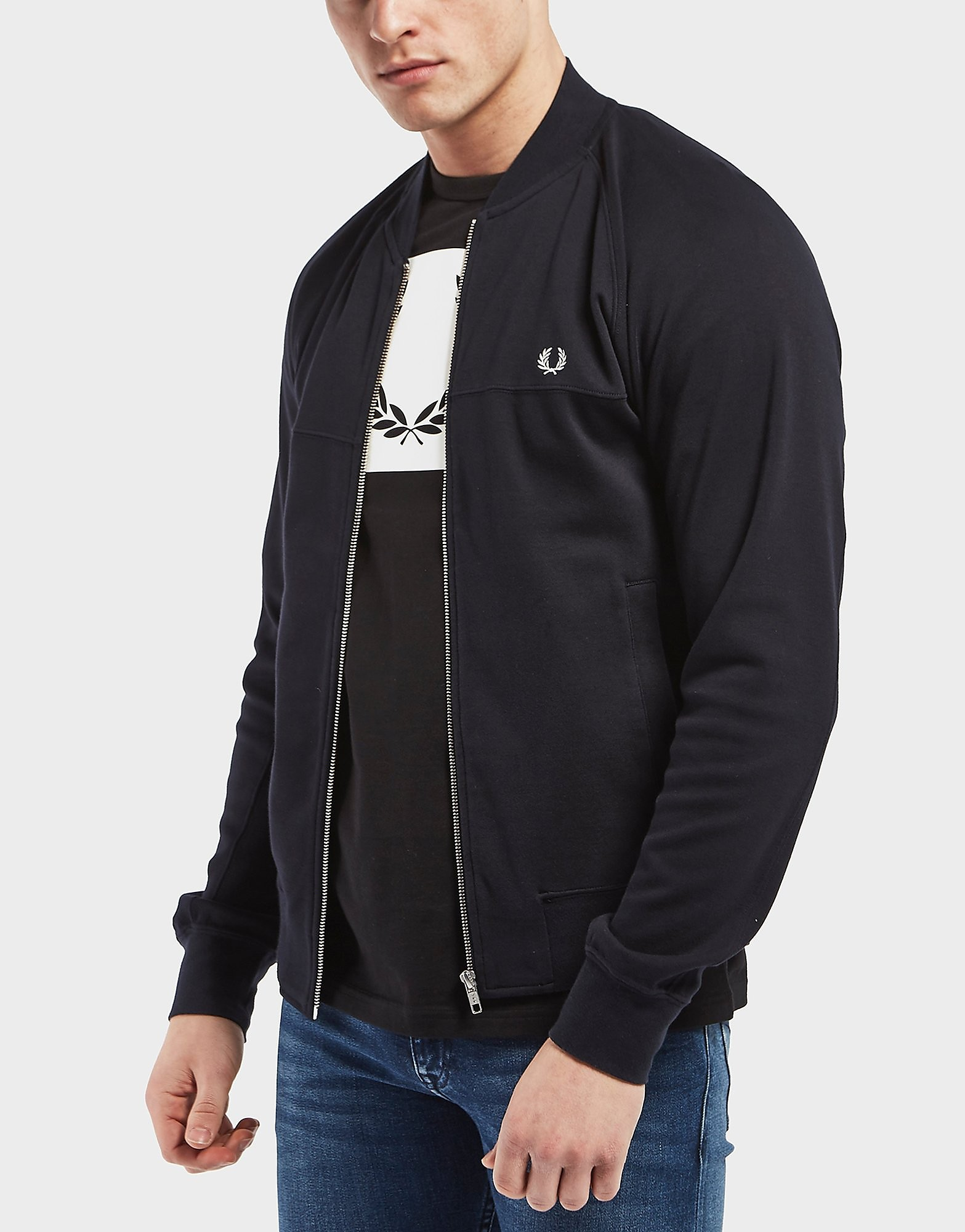 Fred Perry Panelled Fleece Bomber Track Top