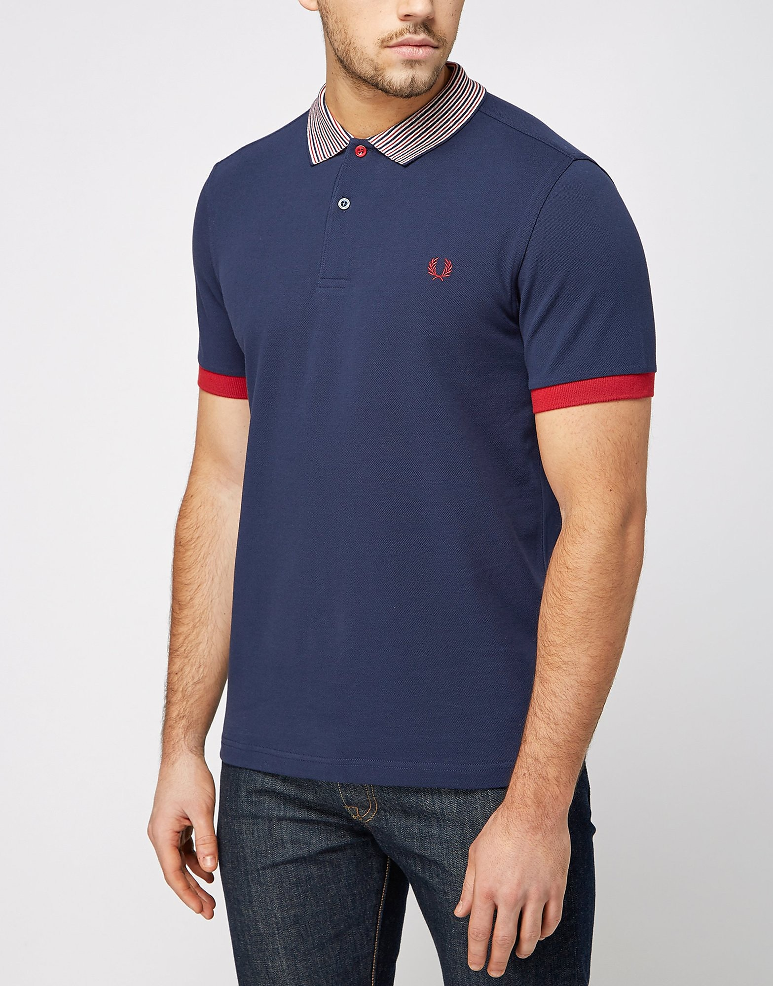 Fred Perry Stripe Collar Polo Shirt
