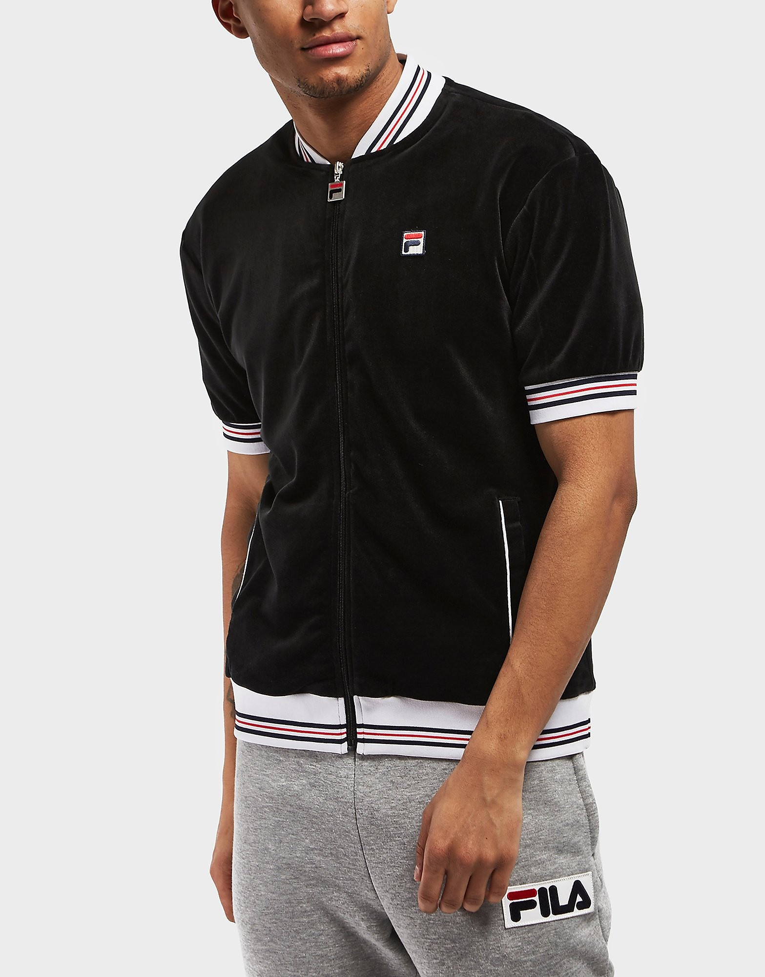 Fila Carezzi Velour Short Sleeve Track Top