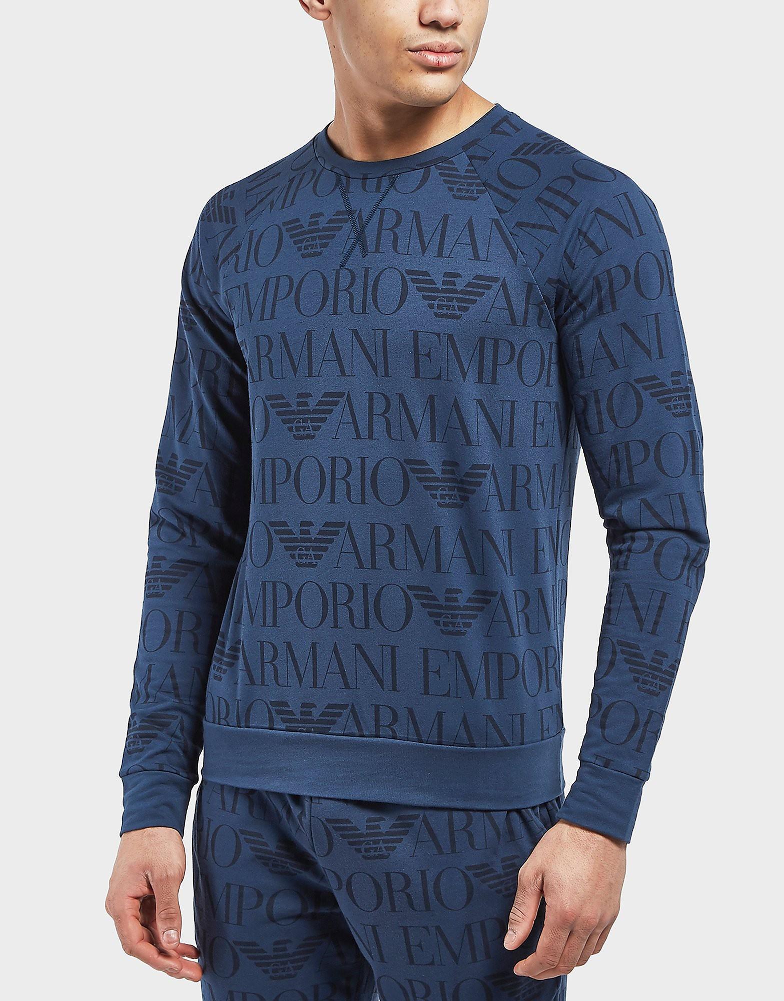 Emporio Armani All Over Print Sweatshirt