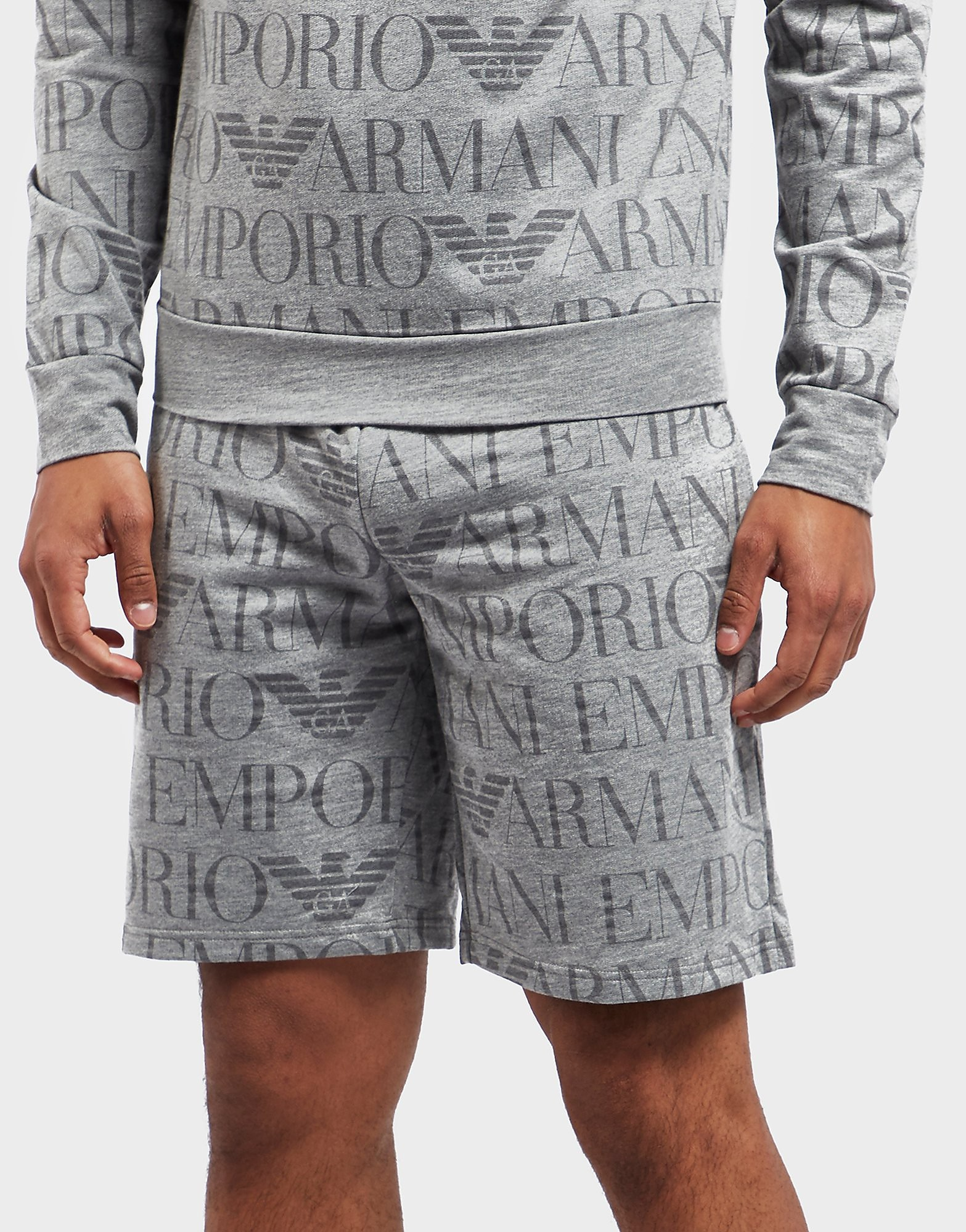 Emporio Armani All Over Print Fleece Shorts