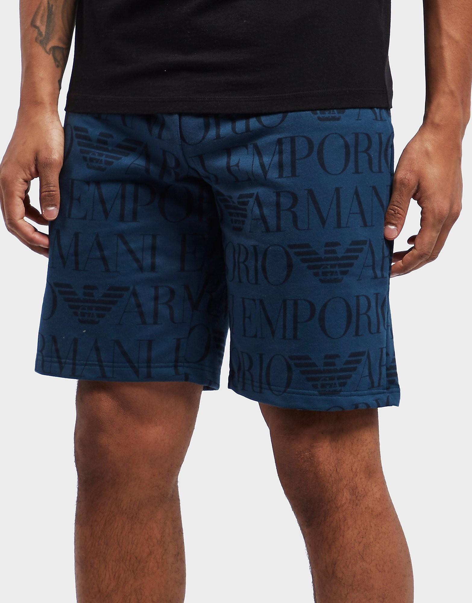 Emporio Armani All Over Print Fleece Shorts