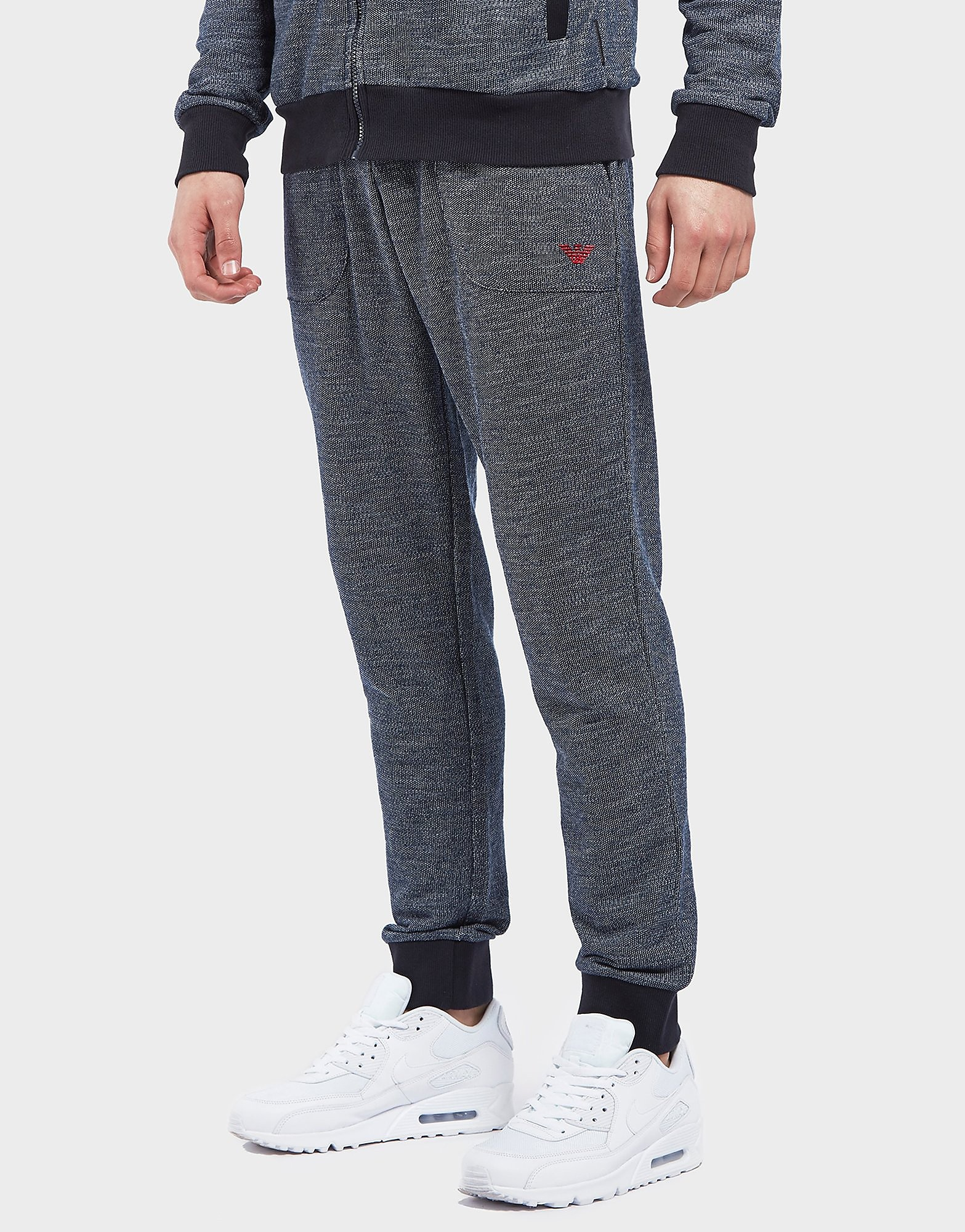 Emporio Armani Cuffed Marl Fleece Pants