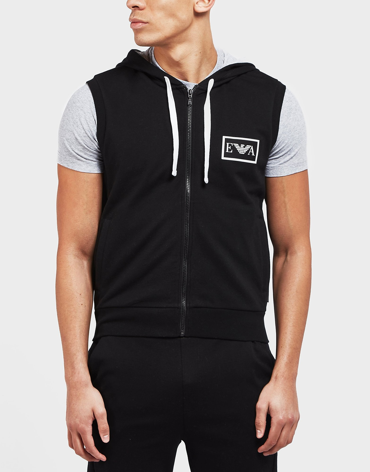 Emporio Armani Eva Sleeveless Zip Up Hoodie