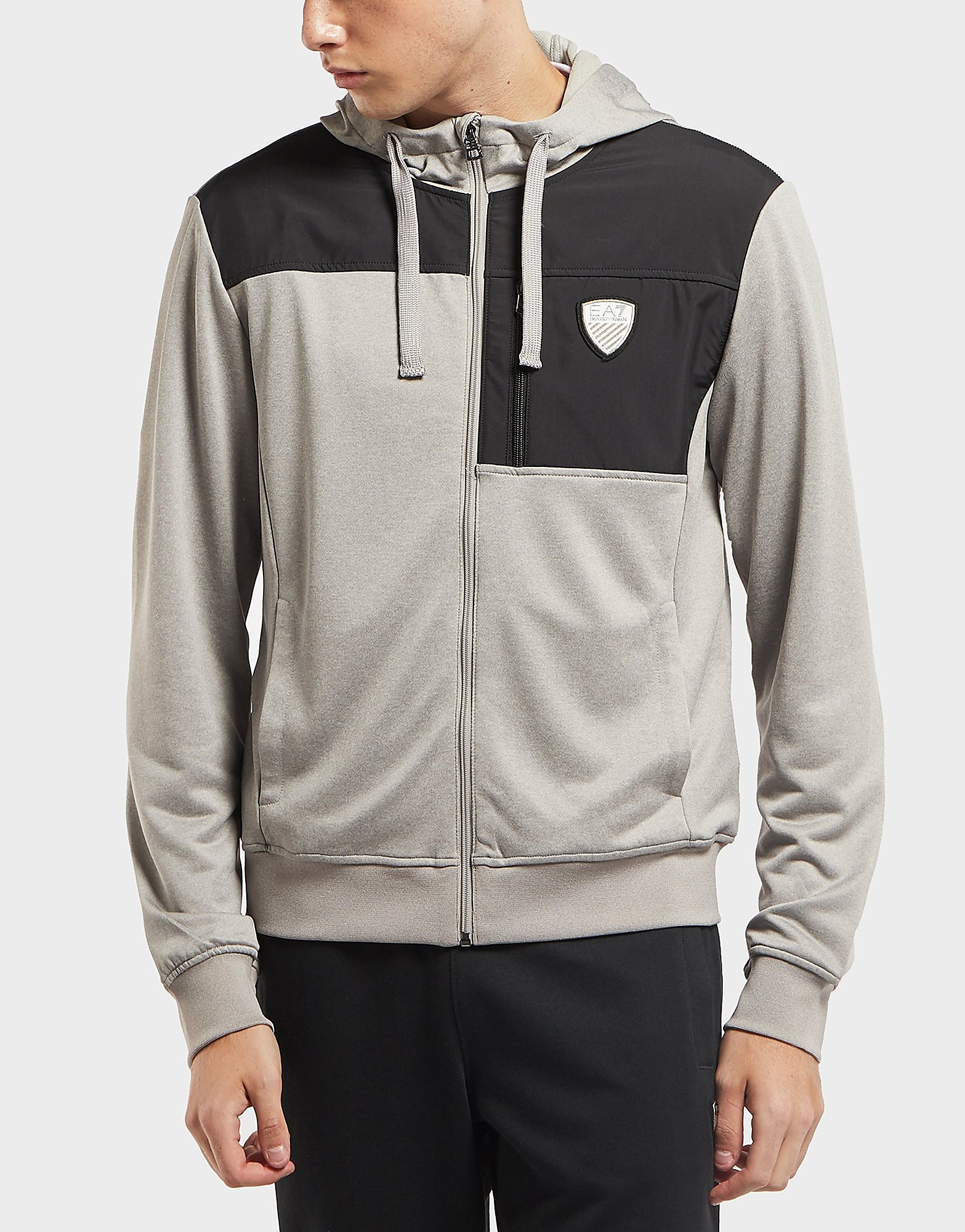 Emporio Armani EA7 Shield Overlay Full Zip Hoodie - Exclusive