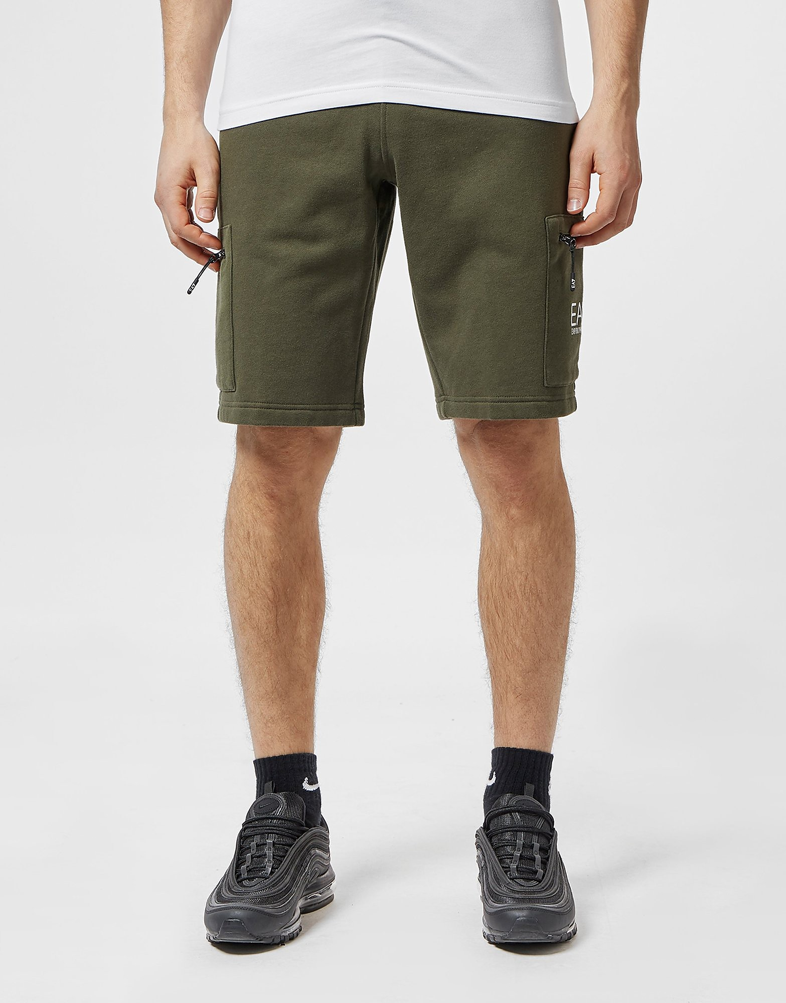 Emporio Armani EA7 Logo Fleece Shorts - Exclusive