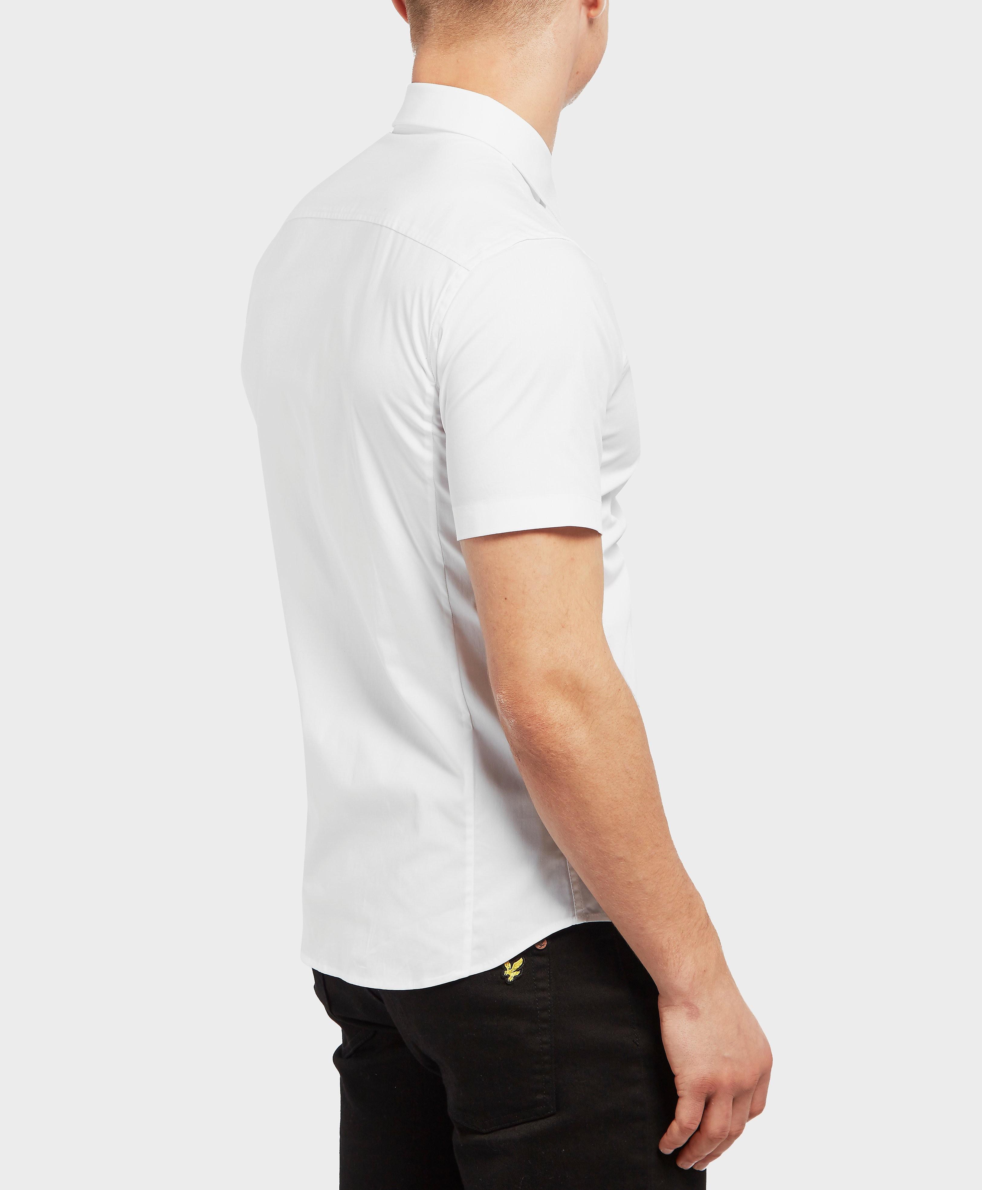 Versace Leaf Logo Short Sleeve Shirt