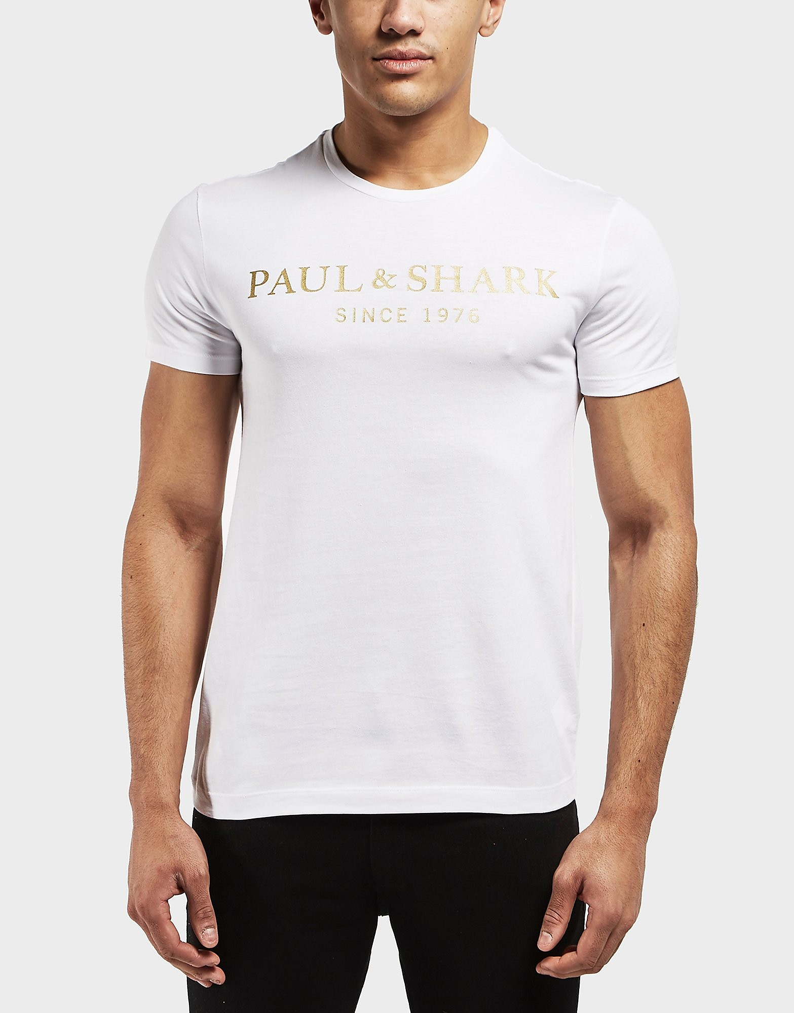 Paul and Shark Gold Logo Short Sleeve T-Shirt