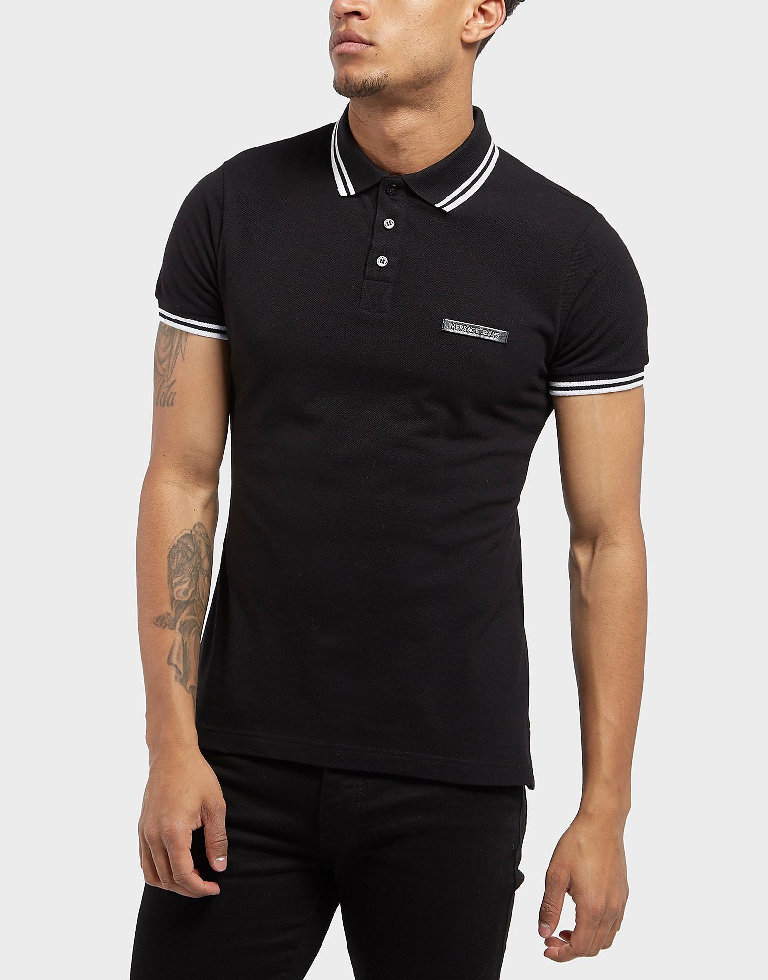 Versace Patch Logo Short Sleeve Polo Shirt