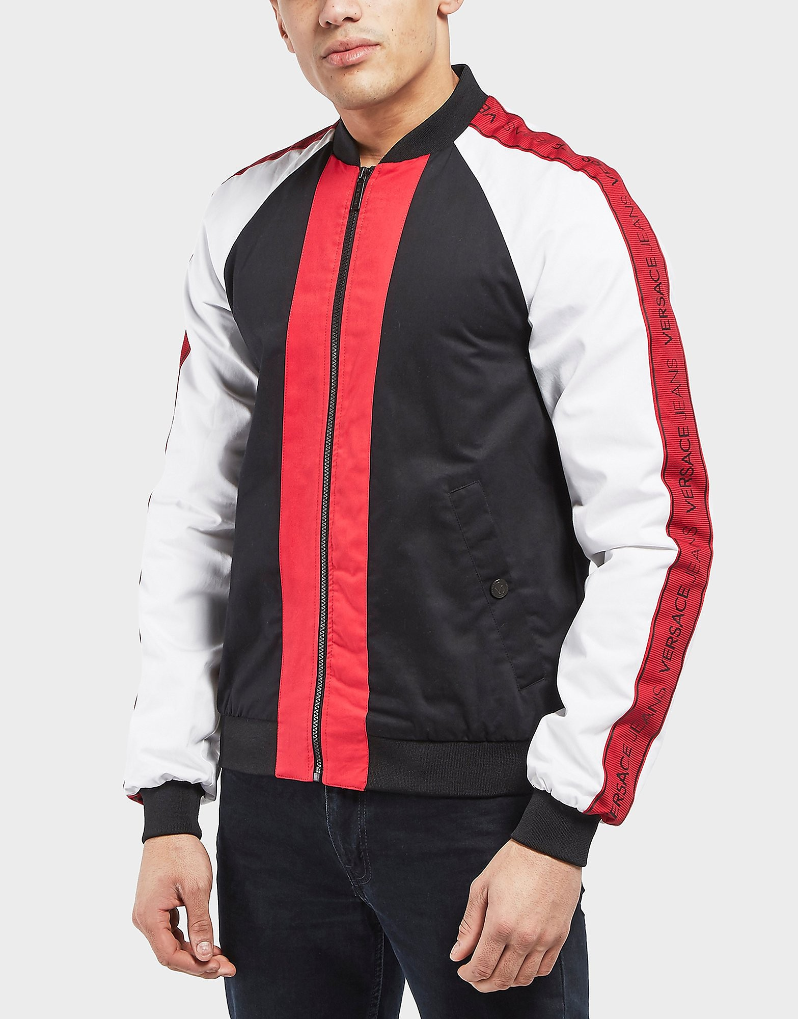 Versace Panel Tape Bomber Jacket