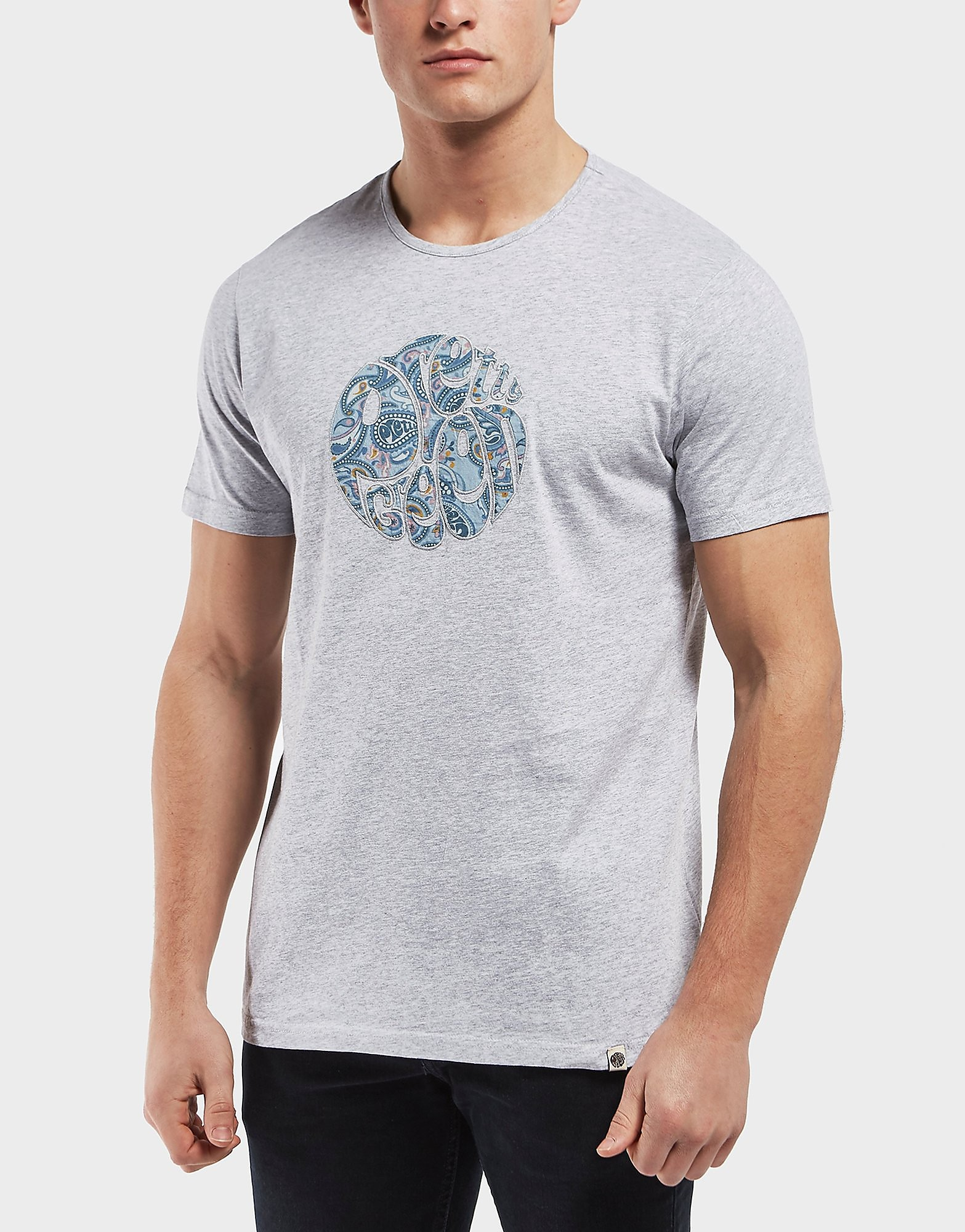 Pretty Green Port Applique Logo Short Sleeve T-Shirt