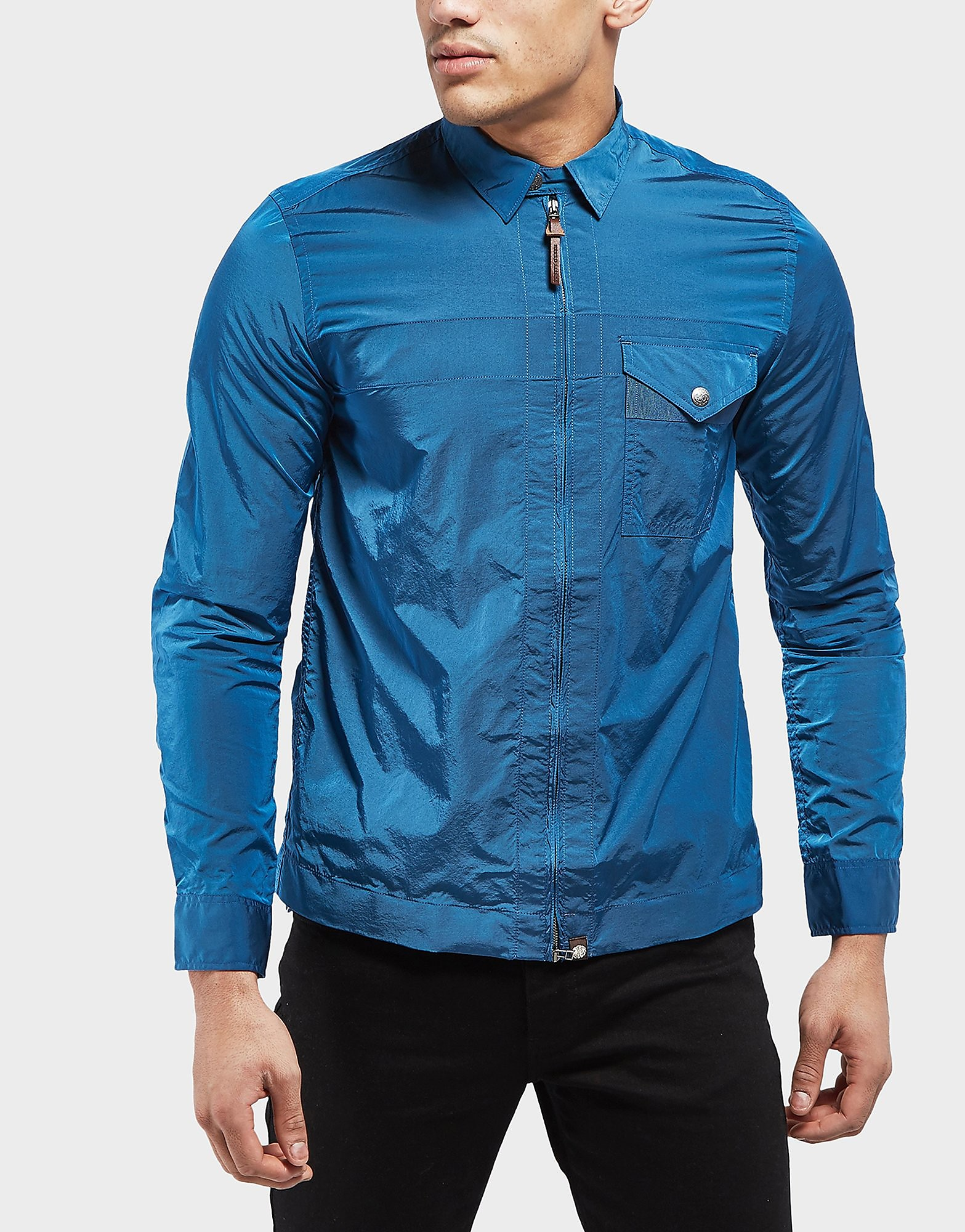 Pretty Green Kaiser Long Sleeve Zip Overshirt