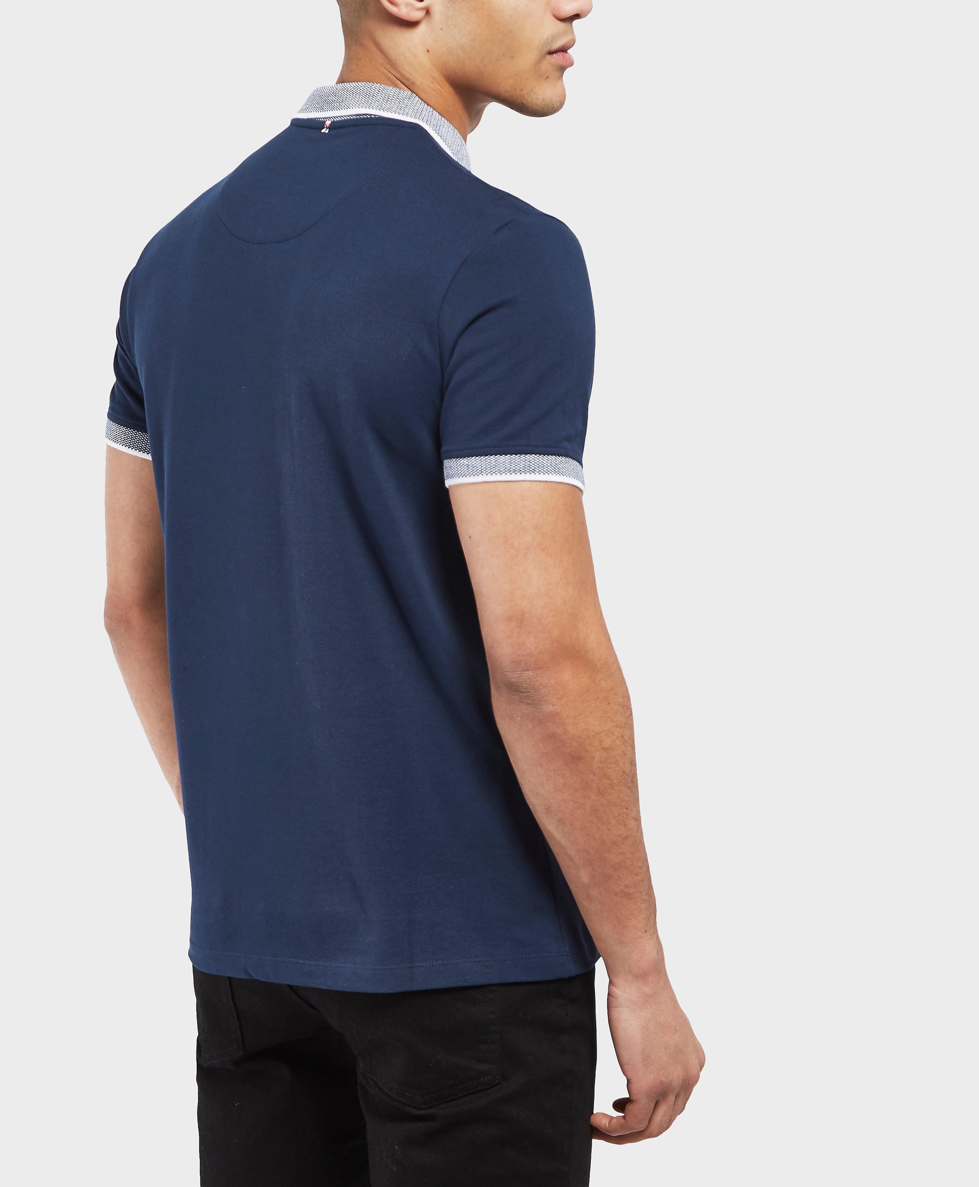 Pretty Green Holcombe Zip Short Sleeve Polo Shirt