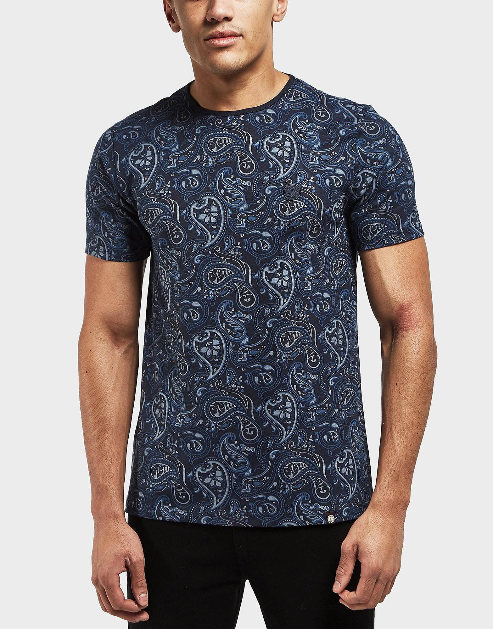 Pretty Green Turnbull Paisley Print Short Sleeve T-Shirt