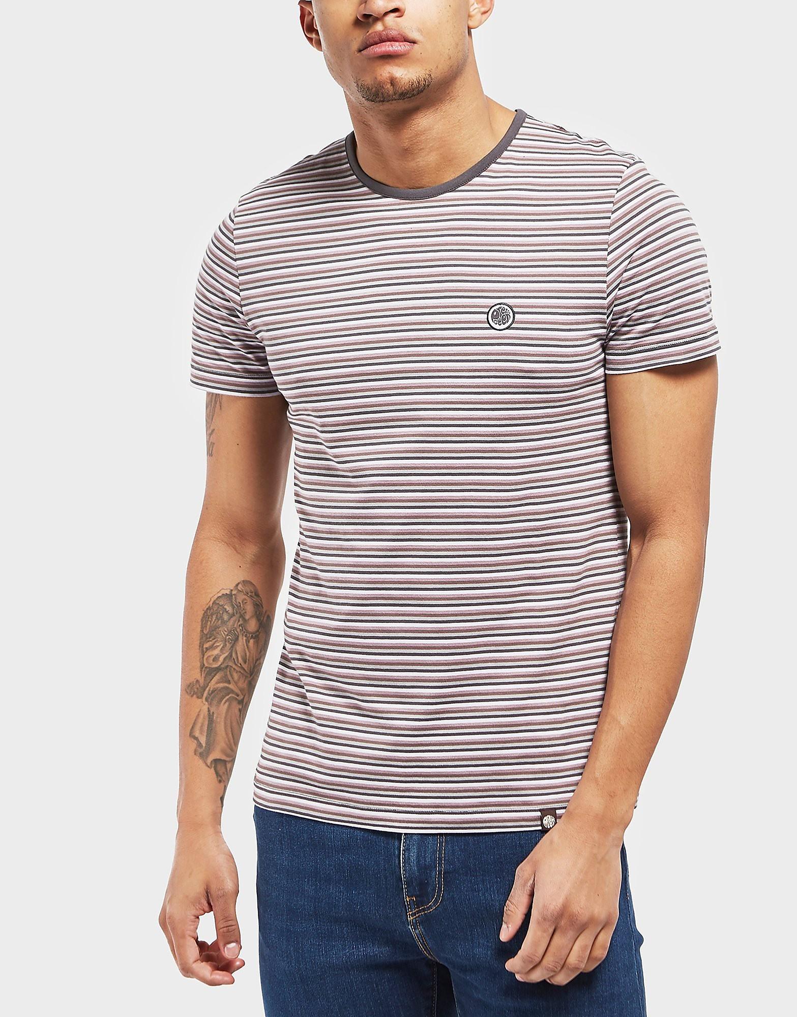 Pretty Green Hawkley Stripe Short Sleeve T-Shirt