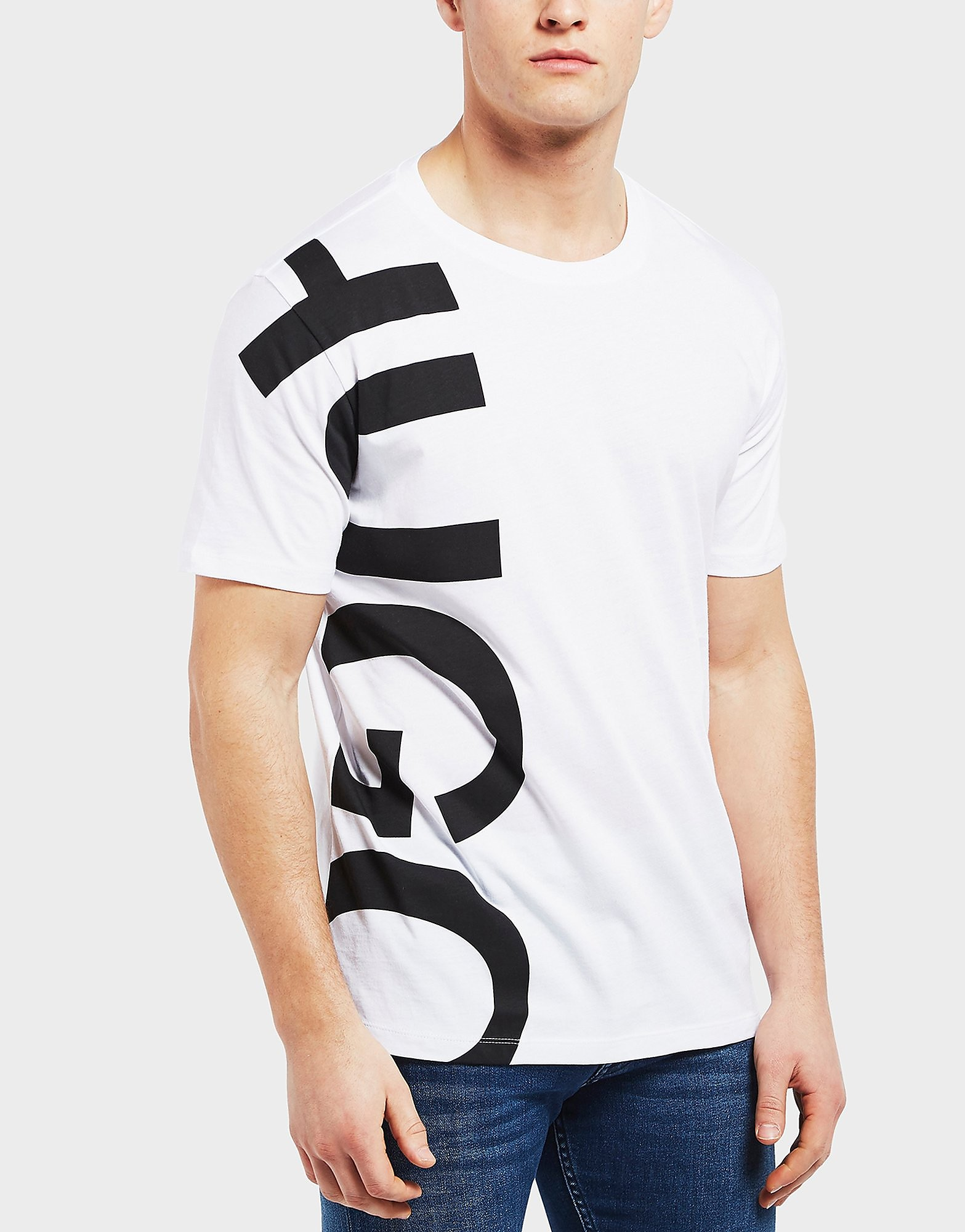 HUGO Large Side Logo Short Sleeve T-Shirt