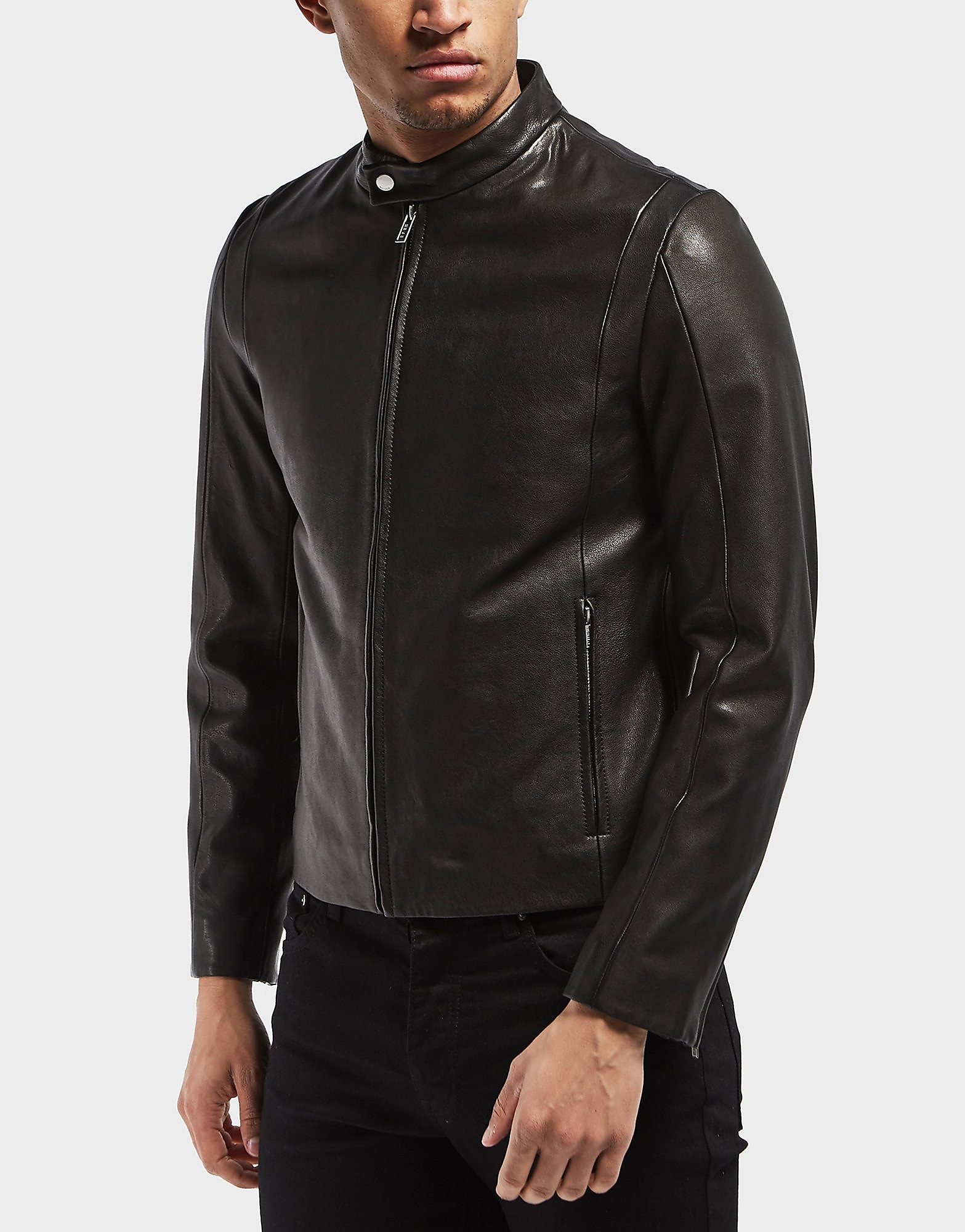 HUGO Leras Leather Jacket