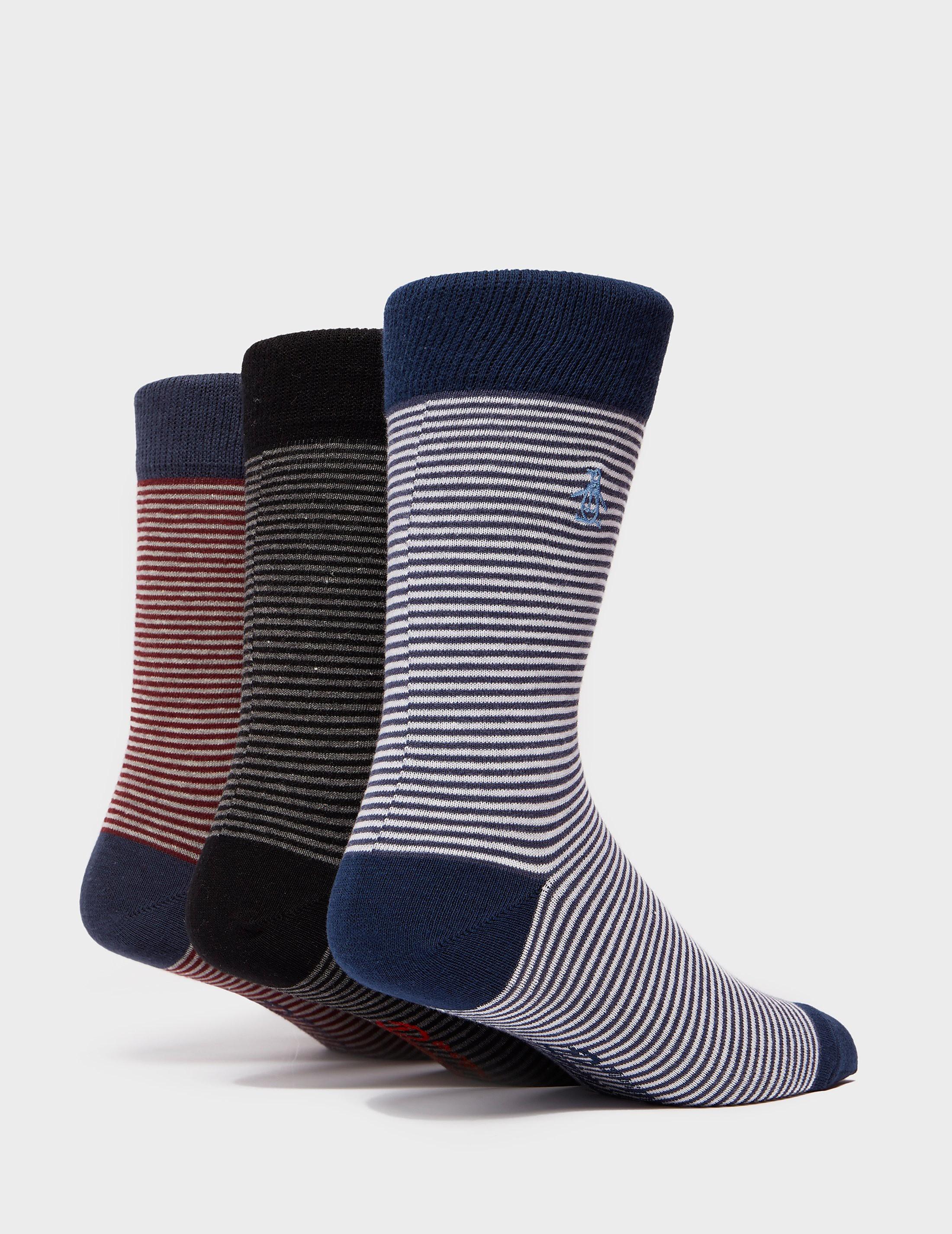 Original Penguin 3-Pack Stripe Socks