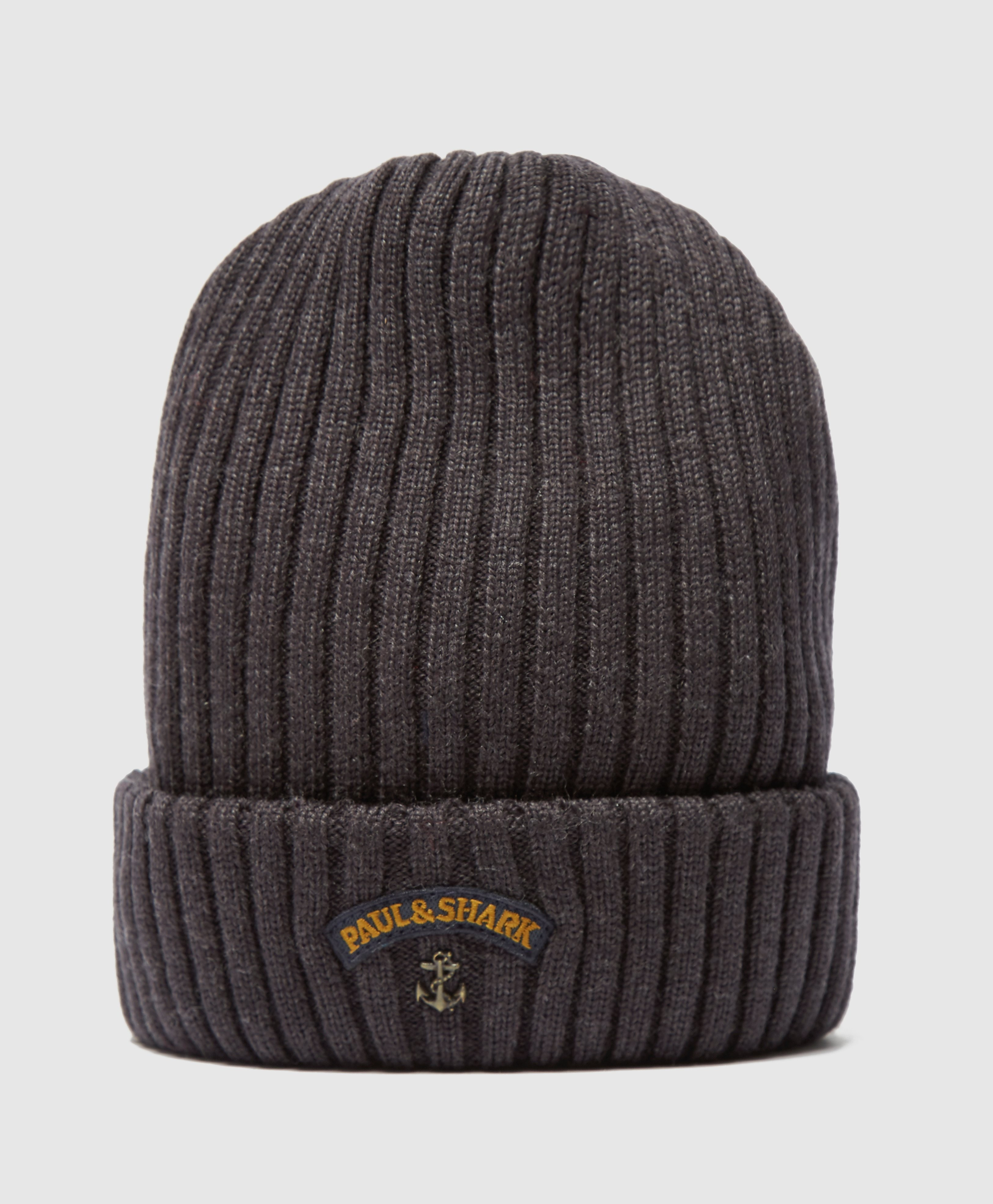 Paul and Shark Ribbed Knitted Hat