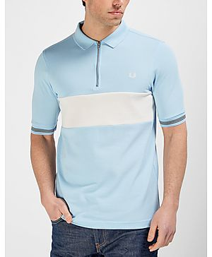 Fred Perry Bradley Wiggins Textured Panel Polo Shirt
