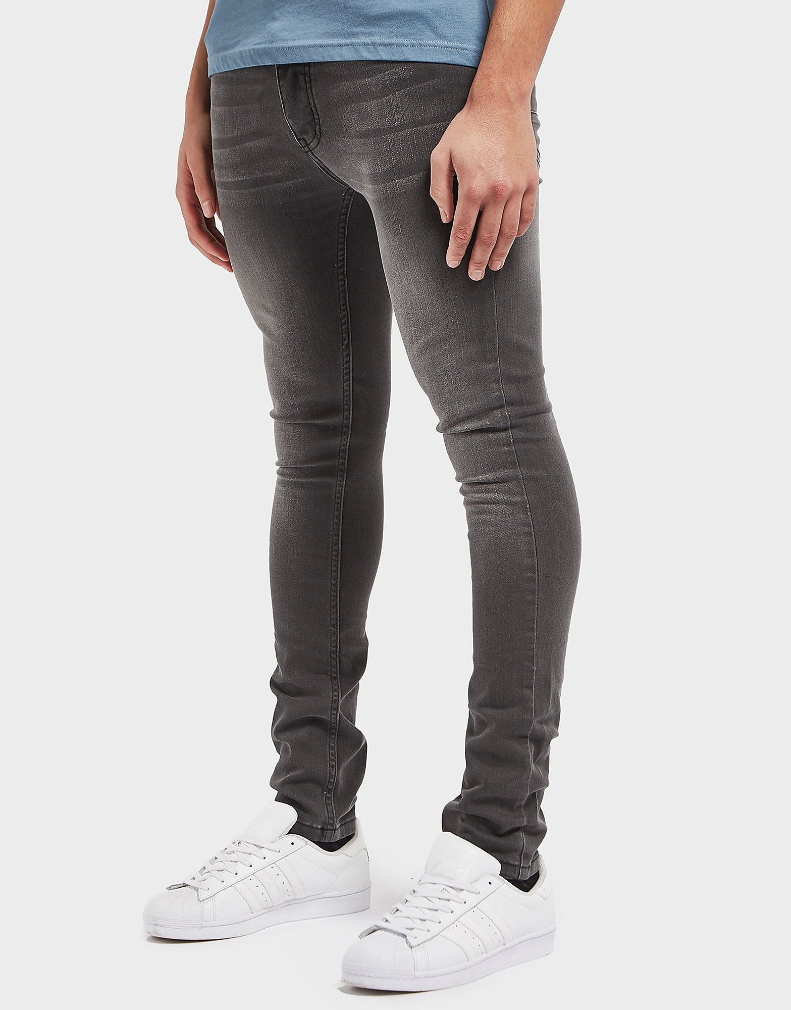 One True Saxon Grey Wash Skinny Jeans - Exclusive
