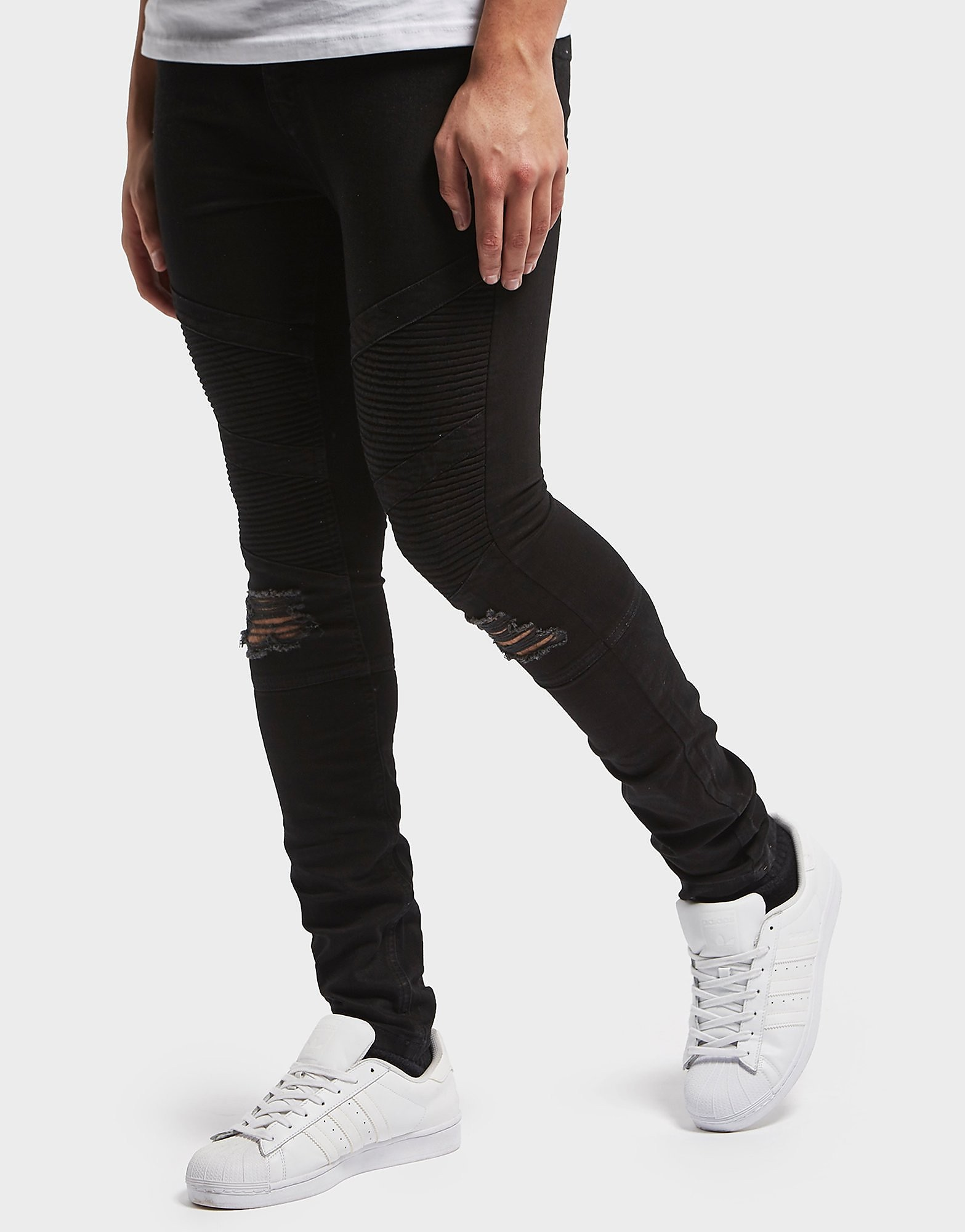 One True Saxon Biker Skinny Jeans - Exclusive