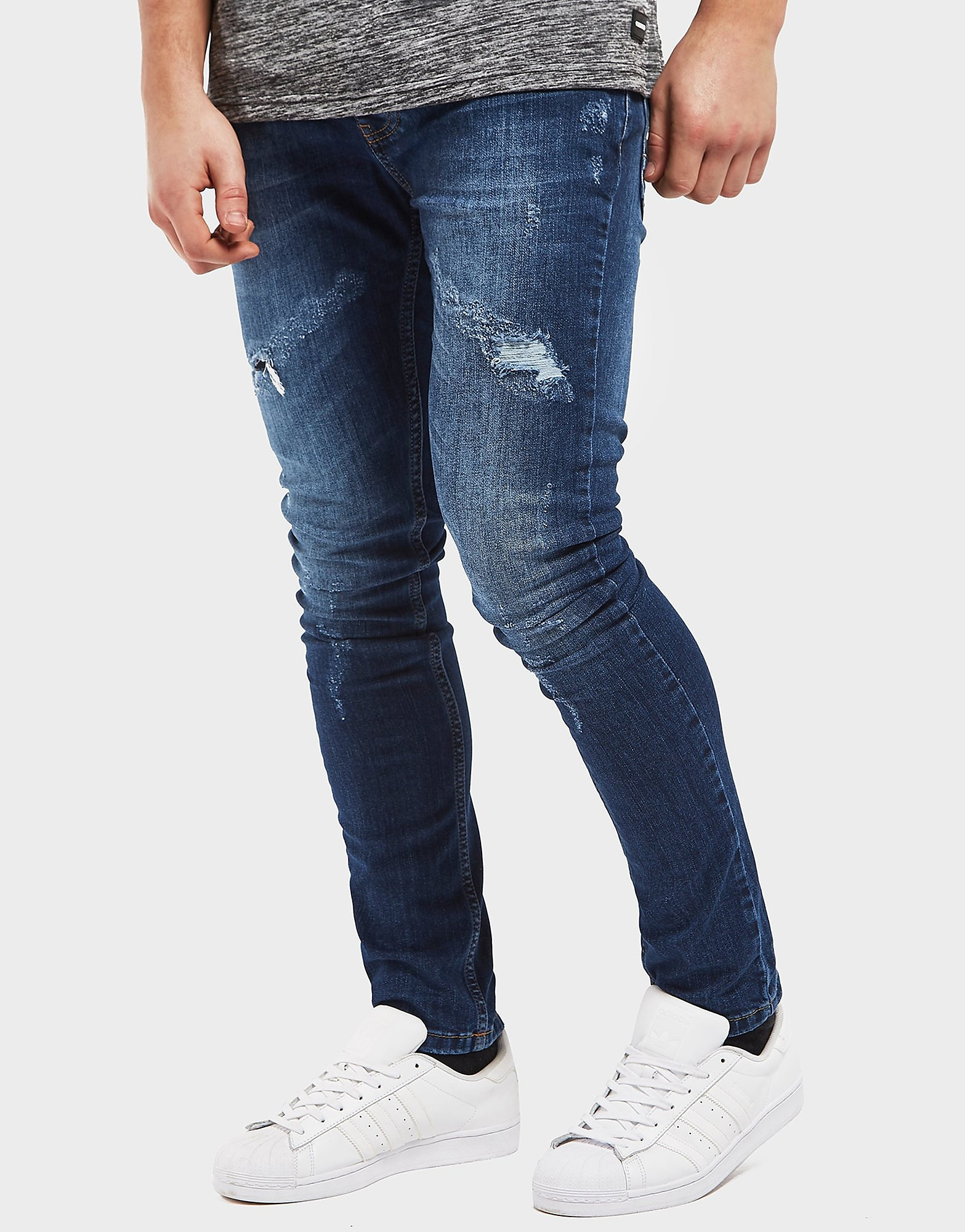 One True Saxon Rip Repair Skinny Jeans - Exclusive