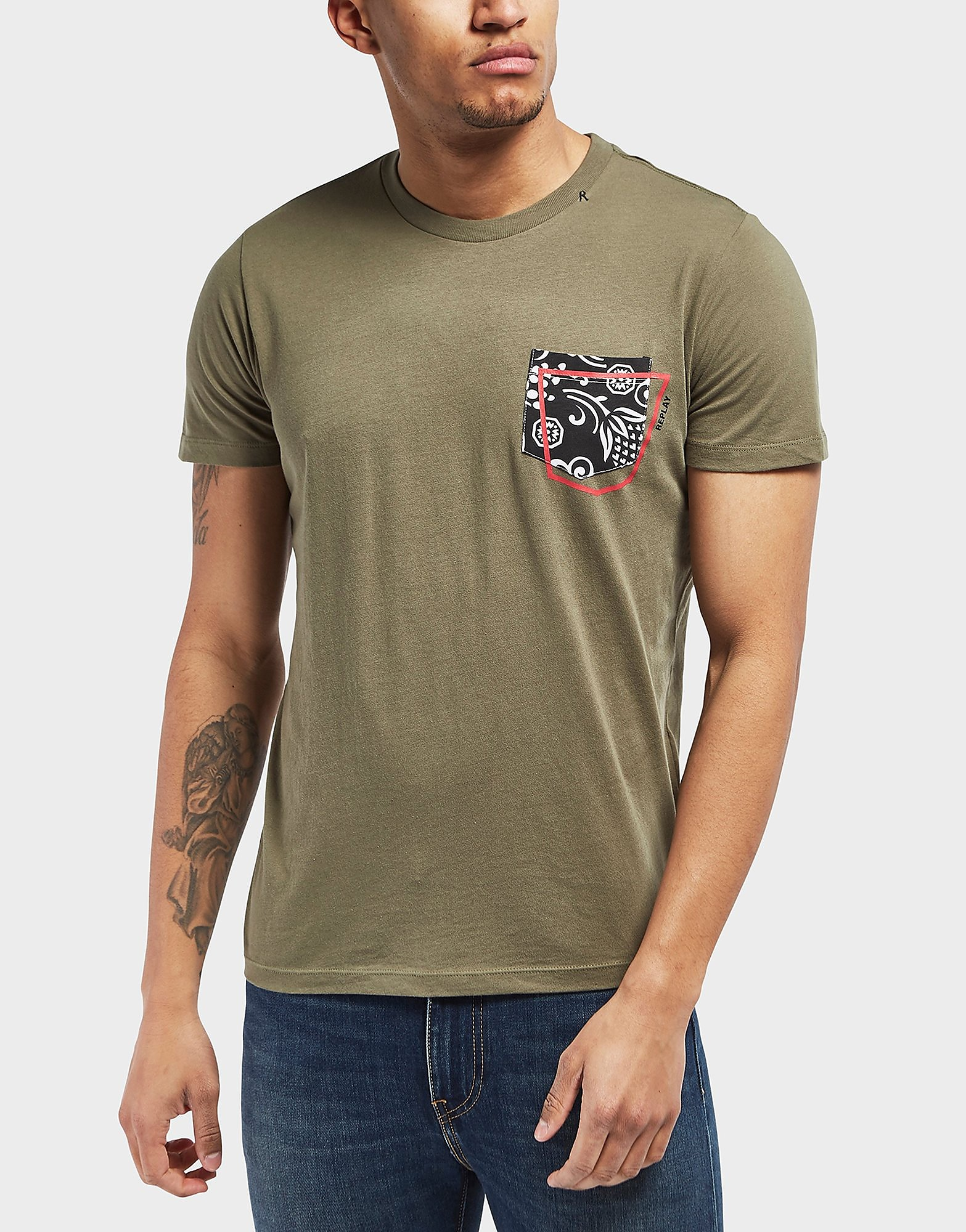 Replay Floral Pocket Short Sleeve T-Shirt
