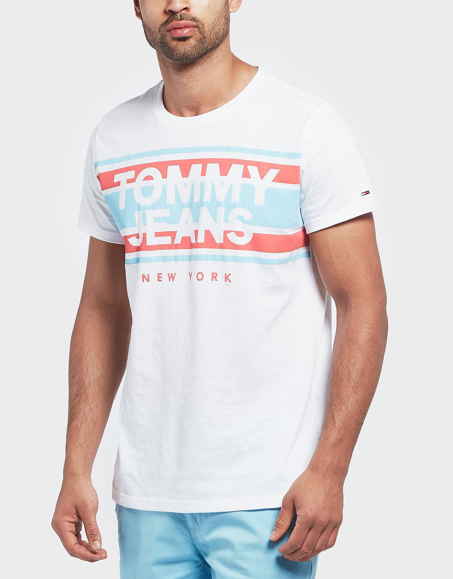 Tommy Hilfiger Branded Stripe Short Sleeve T-Shirt