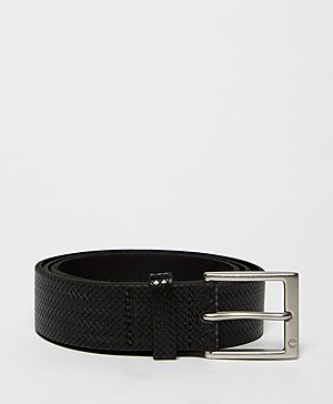 Fred Perry Textured Leather Belt