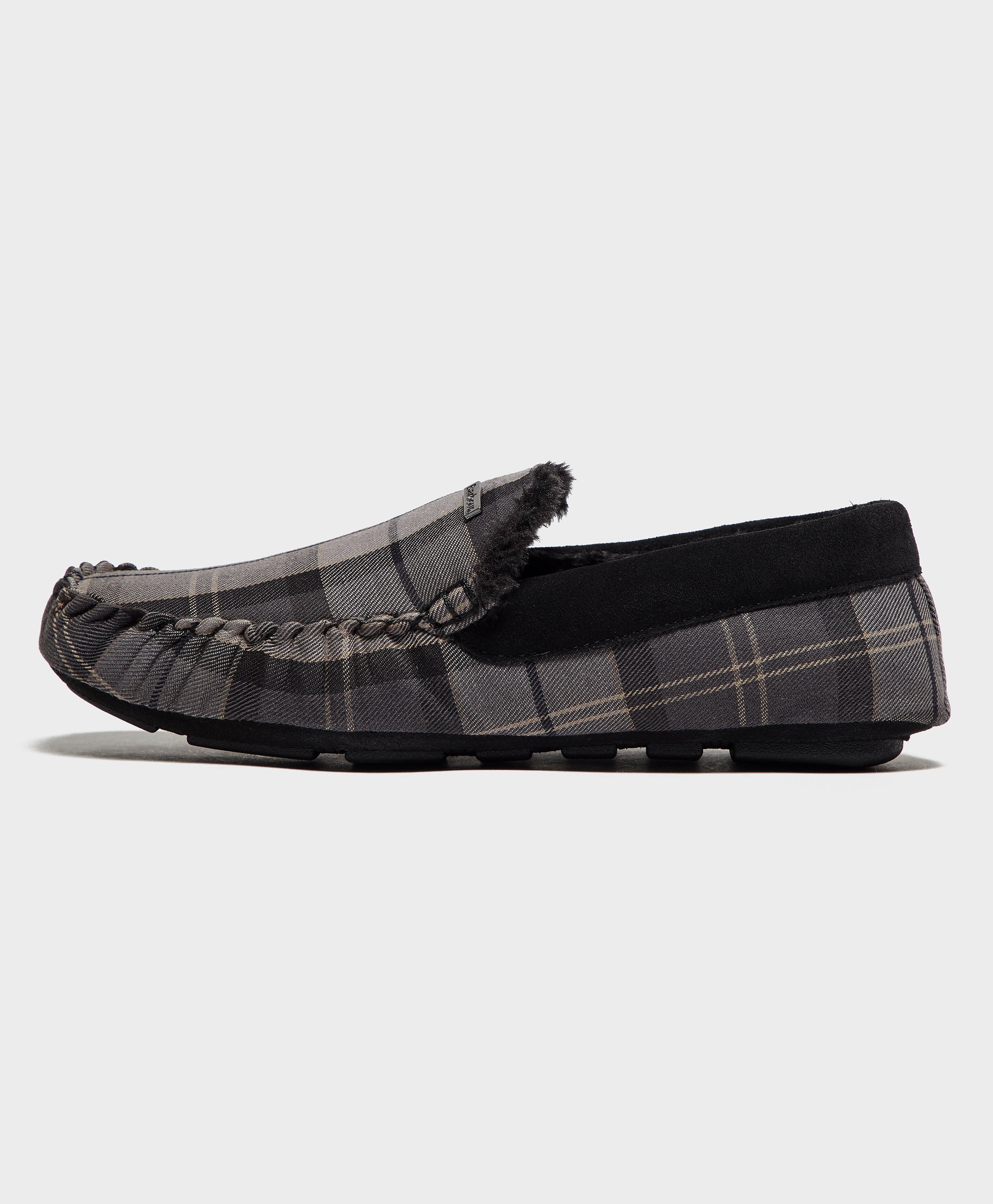 Barbour Monty Monochrome Tartan Slippers