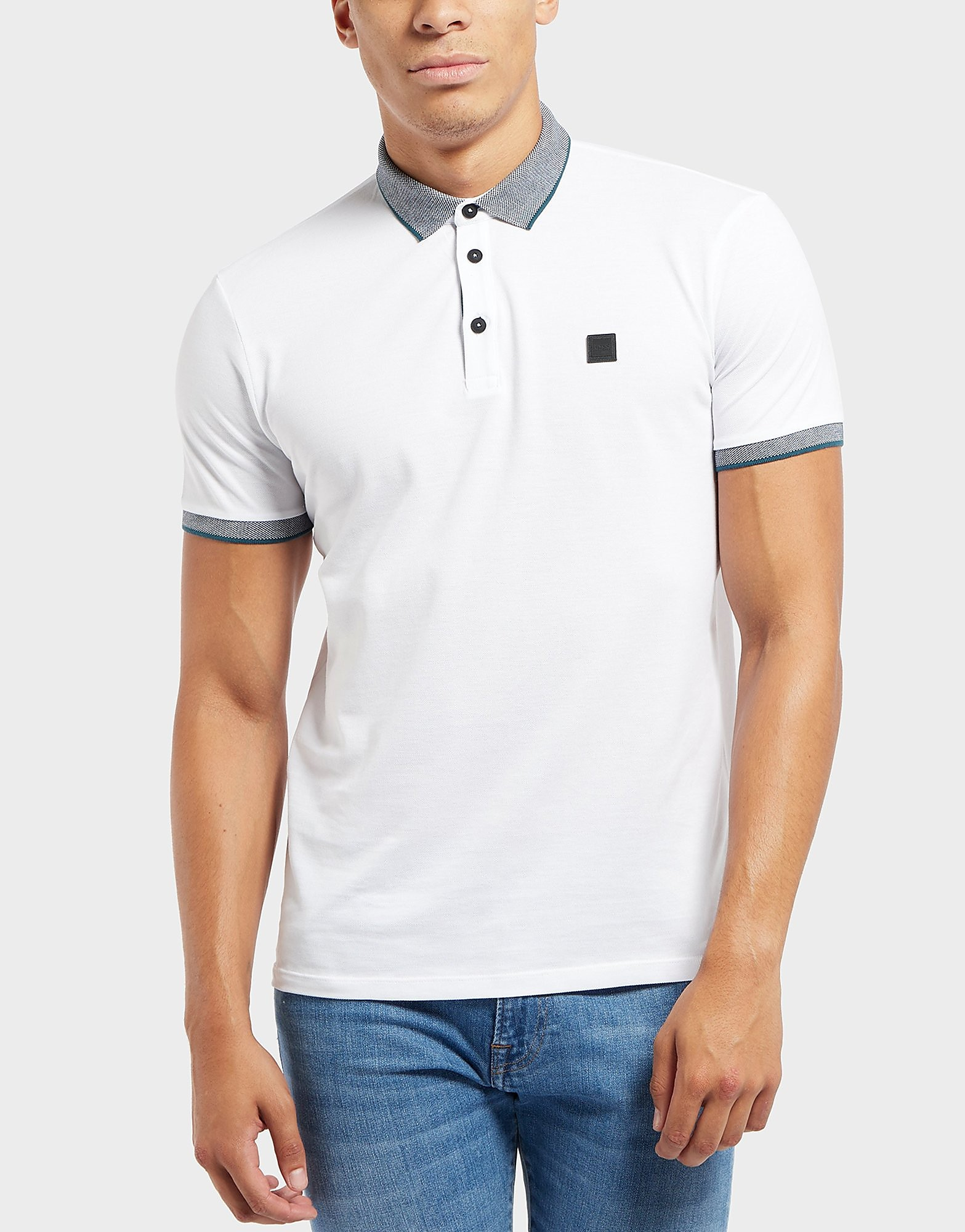 1f12f1f28 BOSS Porches Short Sleeve Polo Shirt - White, White | £90.00 | Gay Times