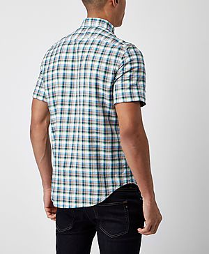Lacoste Short Sleeve Check Shirt