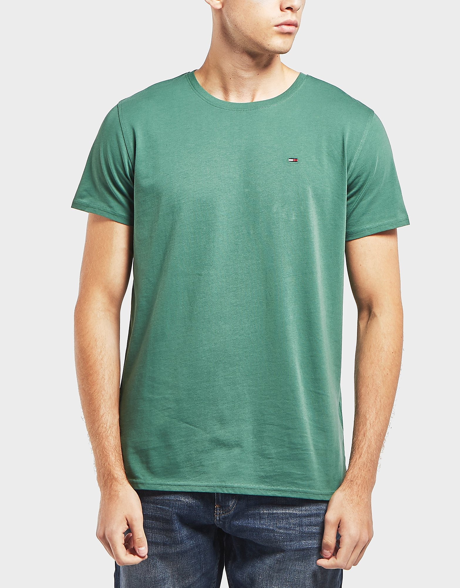 69290fe88 Tommy Jeans Small Flag Short Sleeve T-Shirt - Green