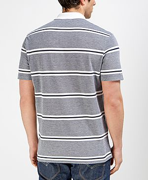 Lacoste Contrast Colour Striped Polo Shirt