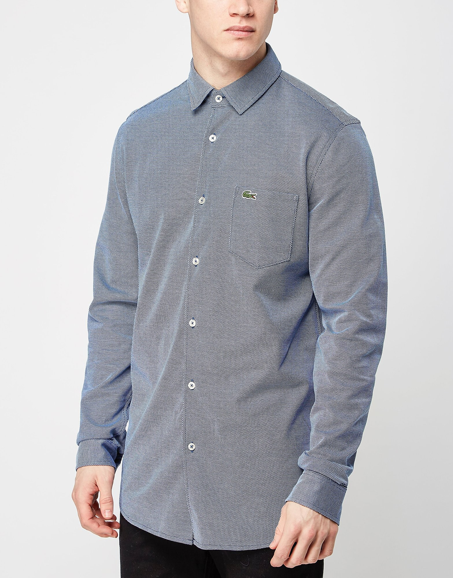 Lacoste Pique Patterned Long Sleeve Shirt