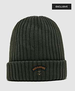 91f7445764a Paul and Shark Ribbed Knitted Logo Beanie ...