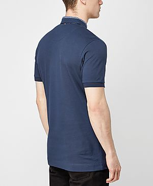 Pretty Green Carver Floral Collar Polo Shirt