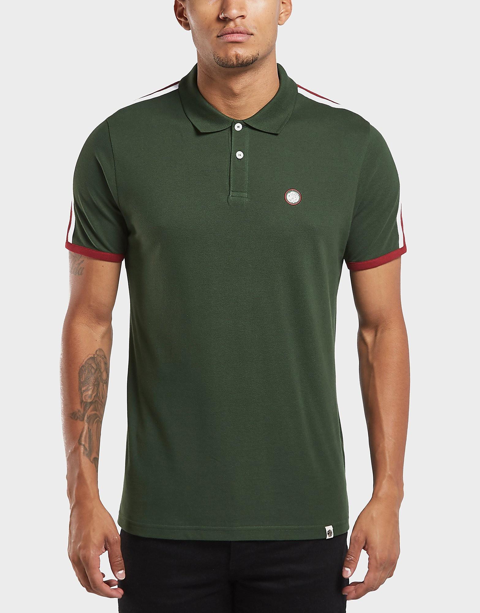 Pretty Green Tilby Tape Short Sleeve Polo Shirt