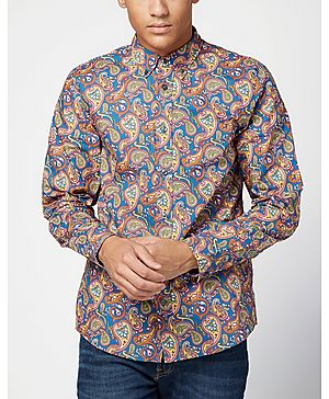 Pretty Green Vintage Paisley Long Sleeve Shirt