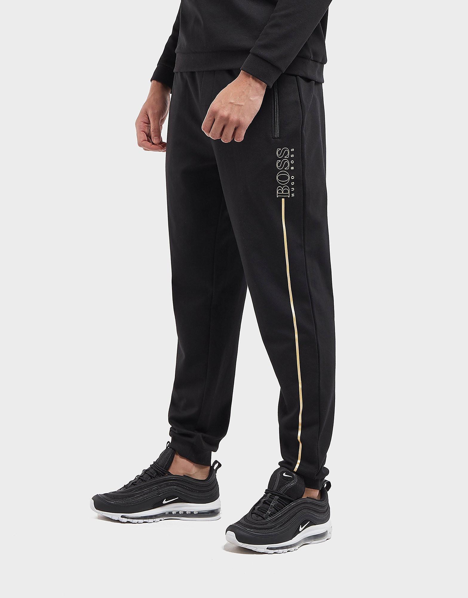 BOSS Foil Logo Cuffed Fleece Track Pants