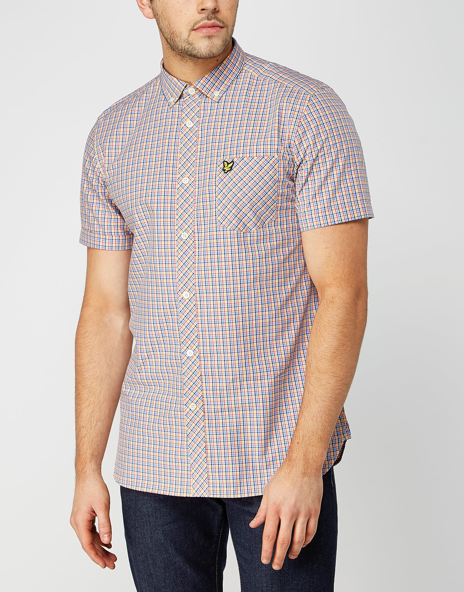 Lyle & Scott Short Sleeved Checked Shirt