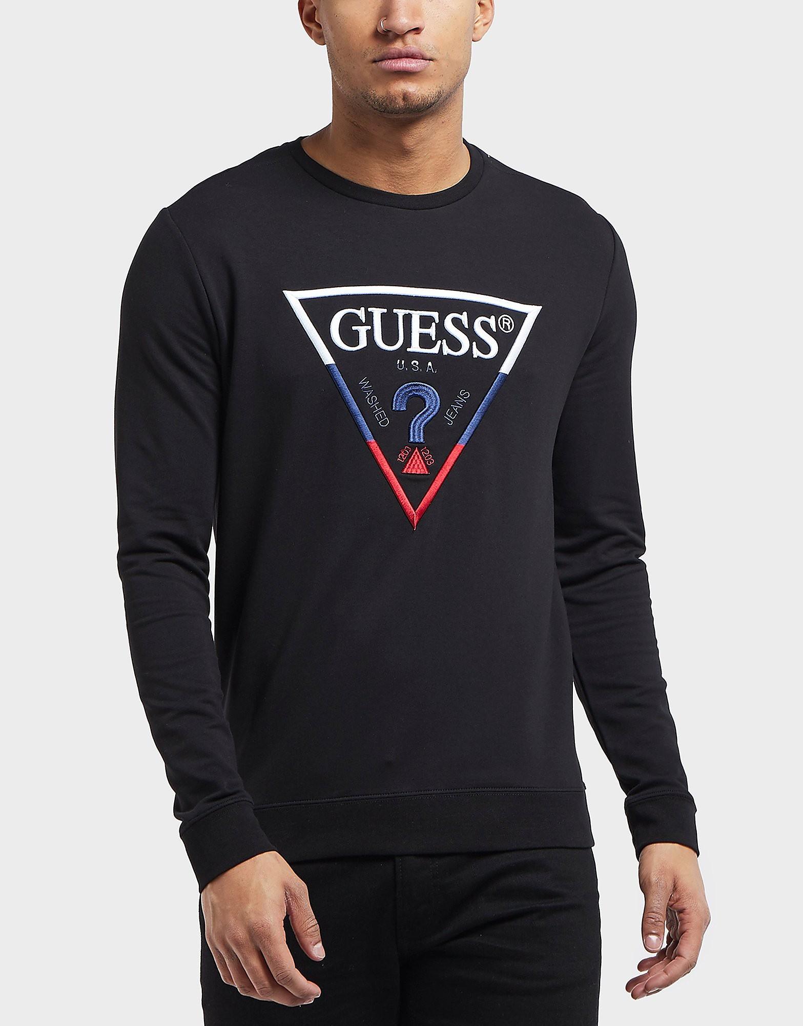 Guess Tri Colour Logo Sweatshirt