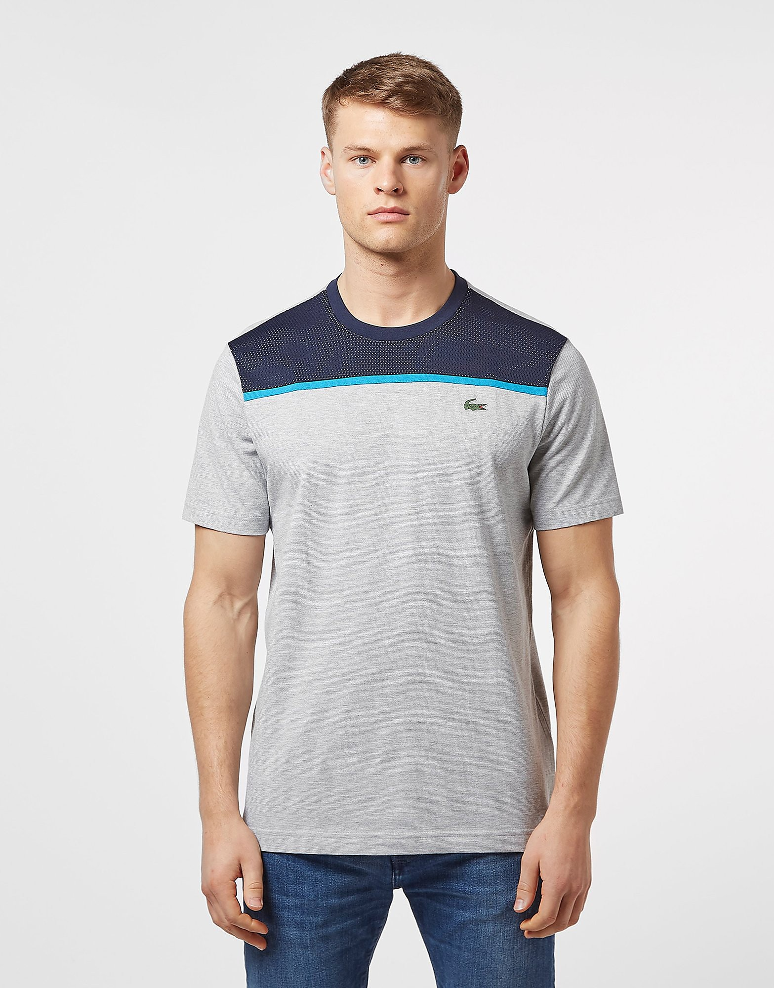 Lacoste Short Sleeve Mesh Upper T-Shirt - Online Exclusive